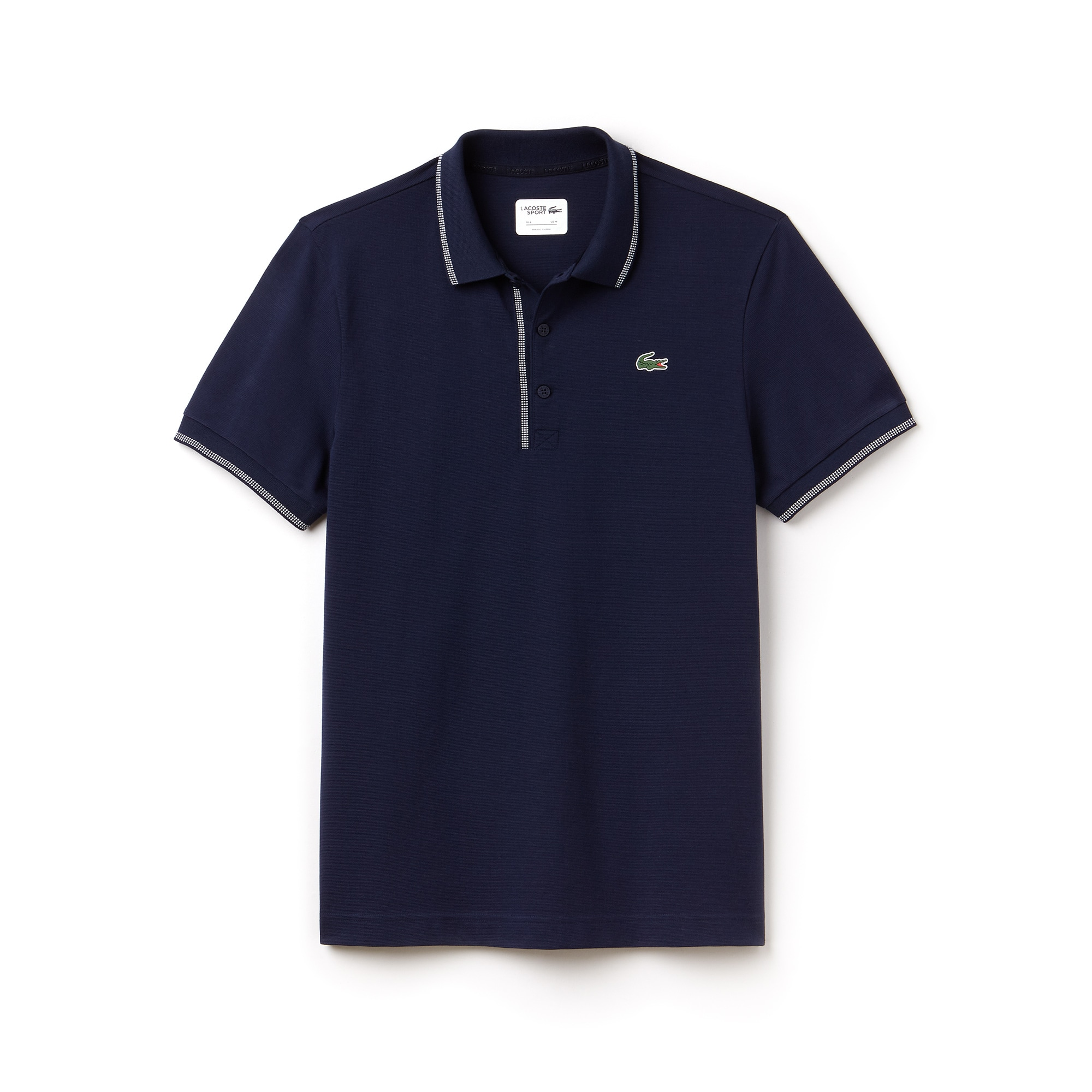 Men's Lacoste SPORT Piped Ultra-Light Cotton Golf Polo