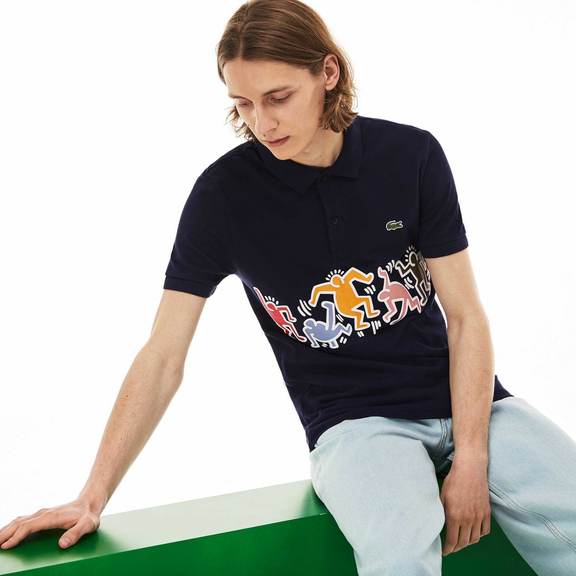 0198138cf84 + 2 colours. 30% off. Men's Lacoste Keith Haring Print Band Regular Fit  Petit Piqué ...