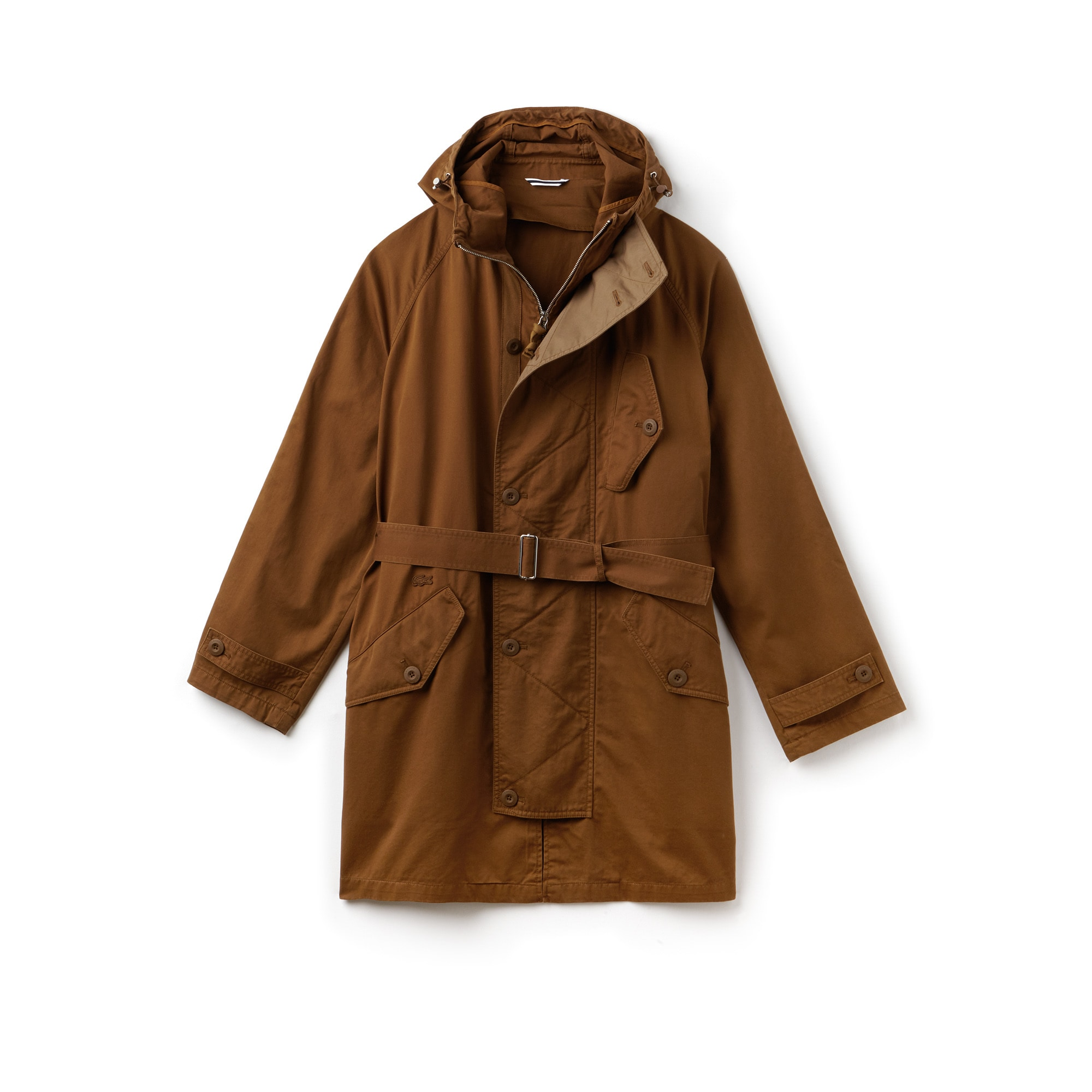Men's Hooded Oversized Cotton Twill Parka