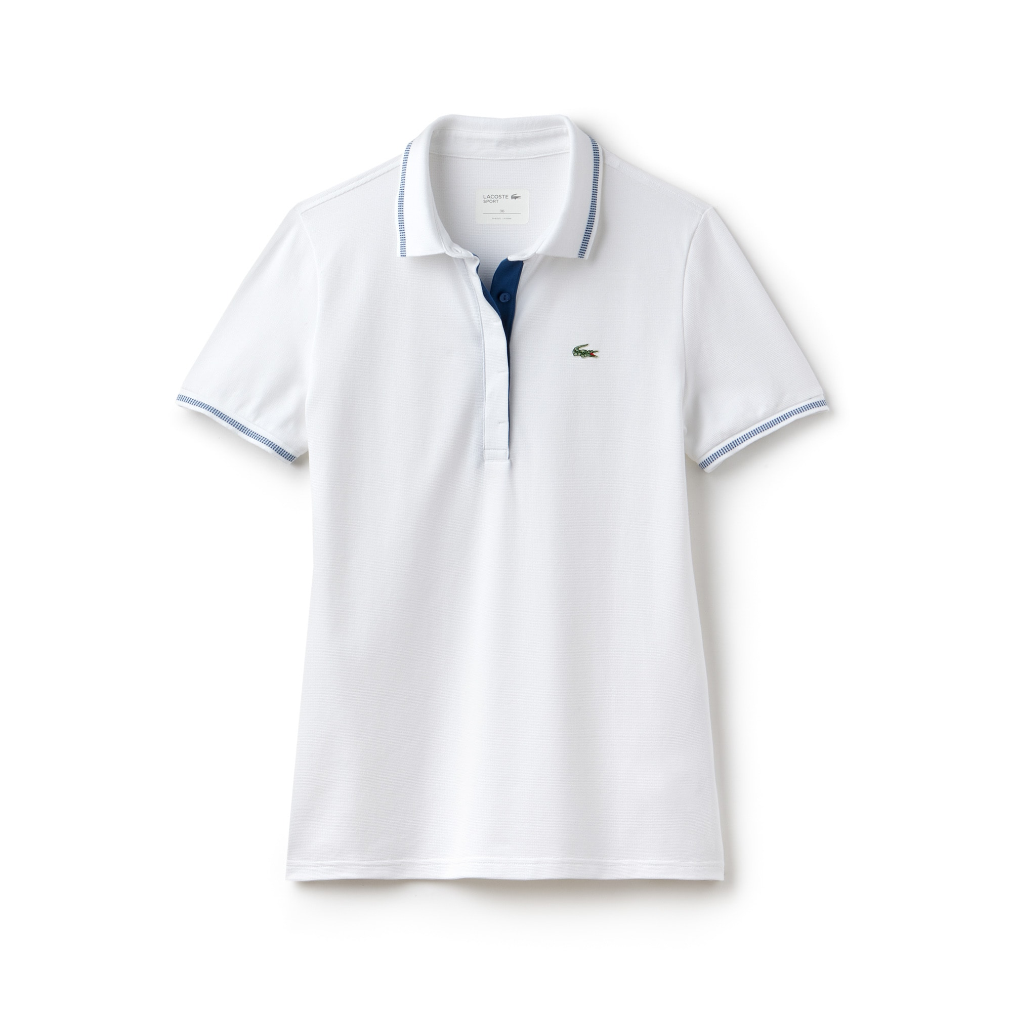 Women's Lacoste SPORT Light Stretch Technical Cotton Golf Polo Shirt