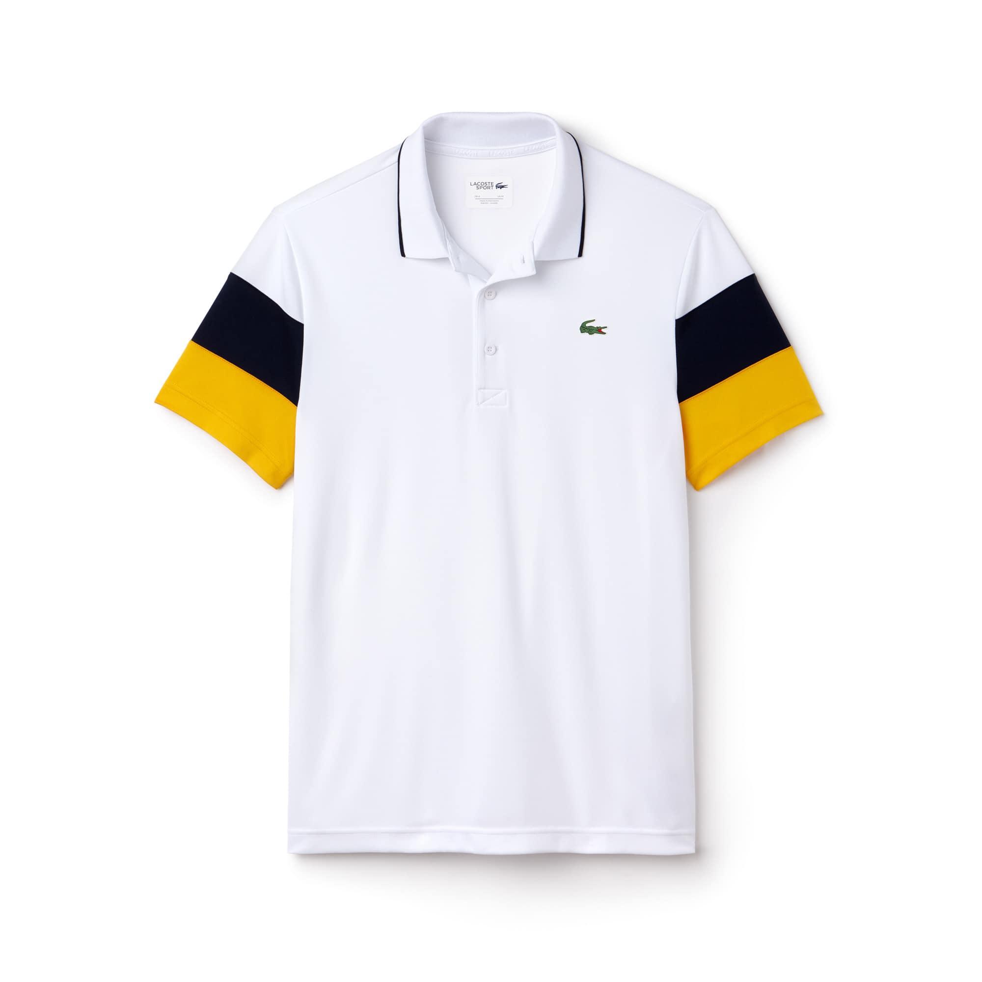 Men's Lacoste SPORT Colorblock Sleeves Technical Piqué Polo