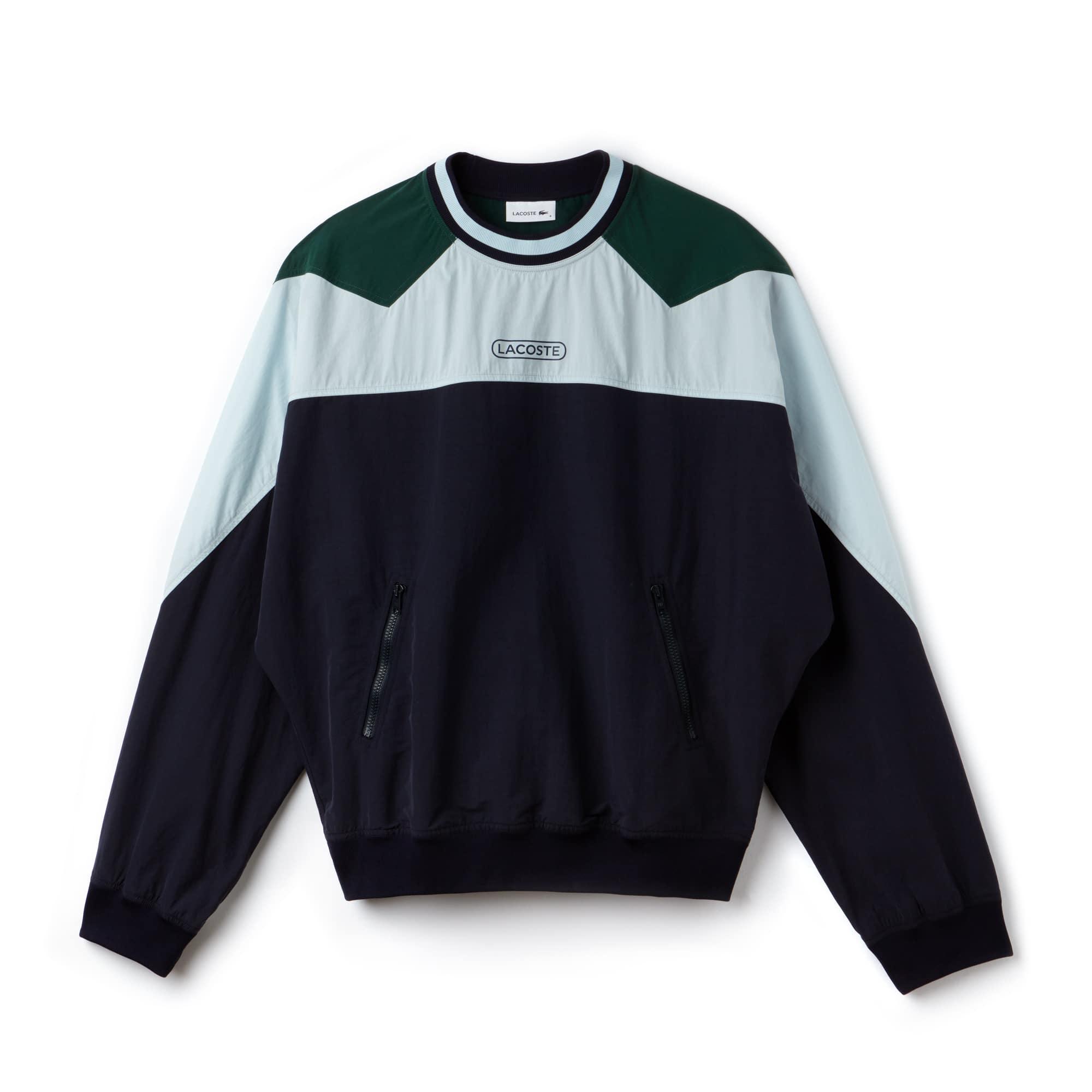 Men's Fashion Show Colorblock Technical Canvas Sweatshirt