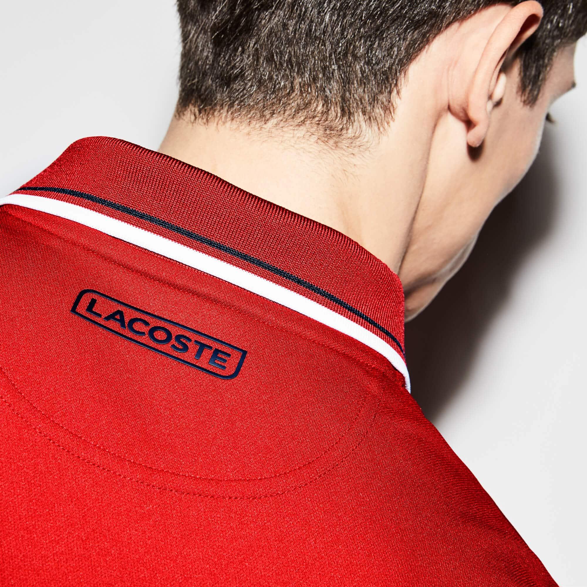 Lacoste - Men's Lacoste SPORT Colorblock Bands Technical Piqué Tennis Polo - 8