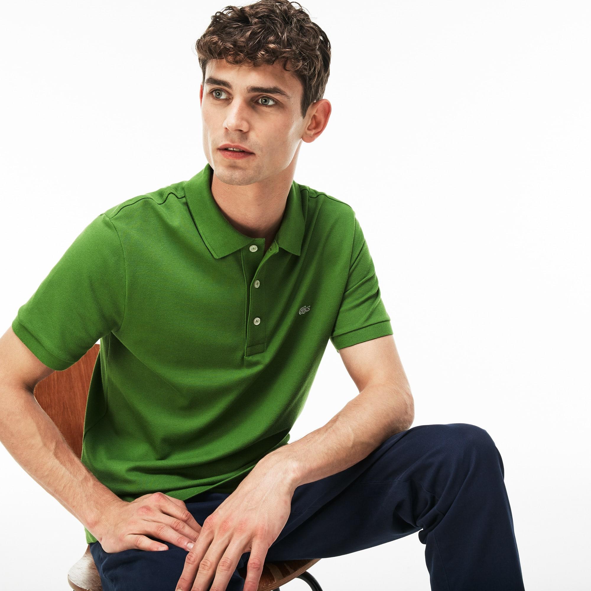 Men's Slim fit Lacoste polo in stretch petit piqué