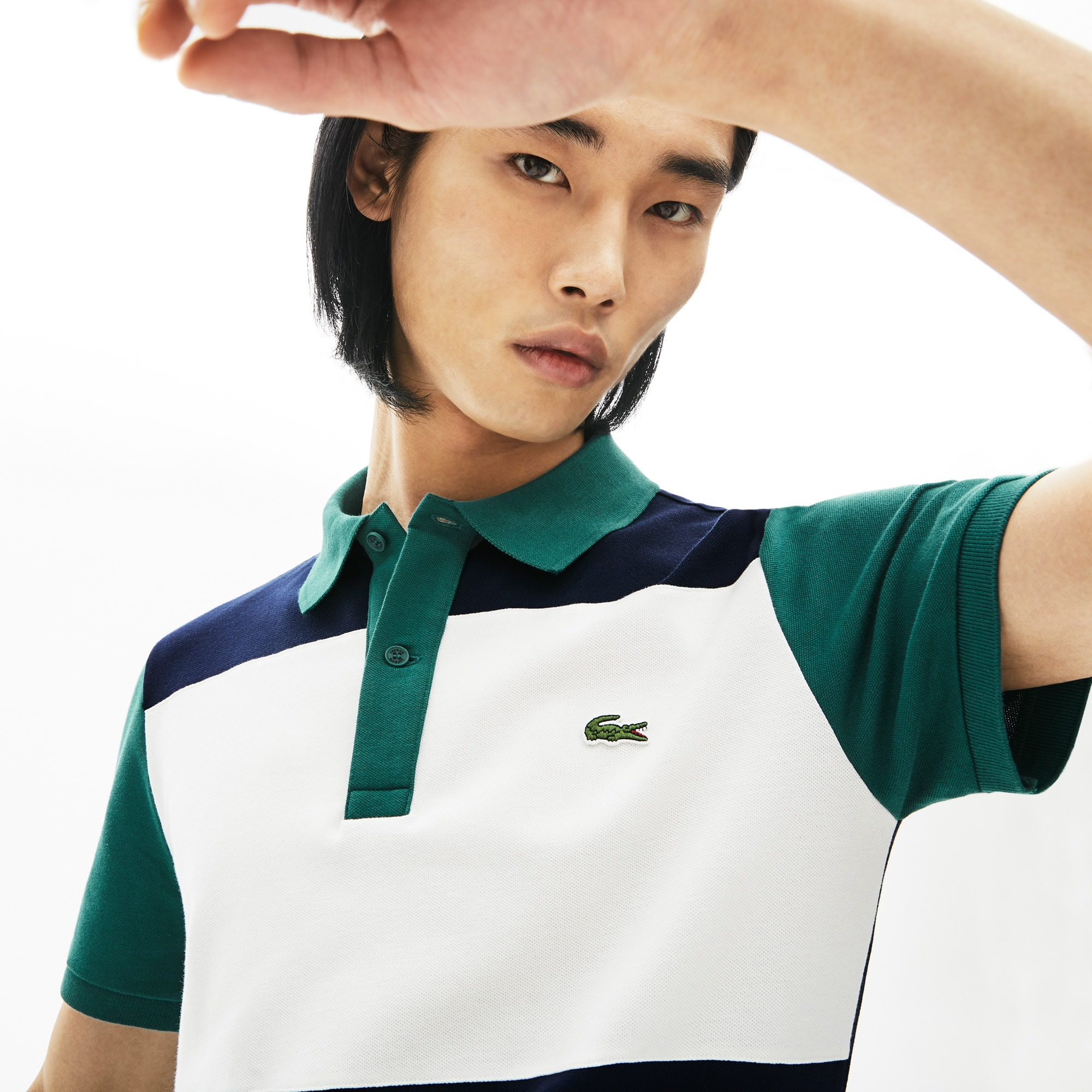 Men's Lacoste Stretch Colourblock Polo Shirt
