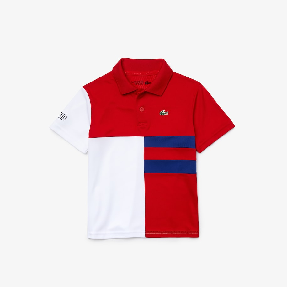Boys' Lacoste SPORT Colourblock Breathable Piqué Tennis Polo Shirt