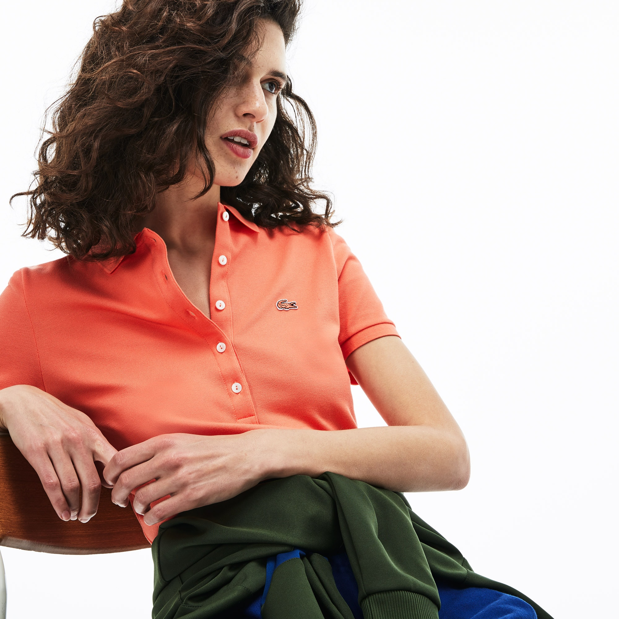 d65eb465 + 16 colours. 40% off. Customise Customise. Women's Lacoste Slim Fit  Stretch Mini Cotton Piqué Polo Shirt
