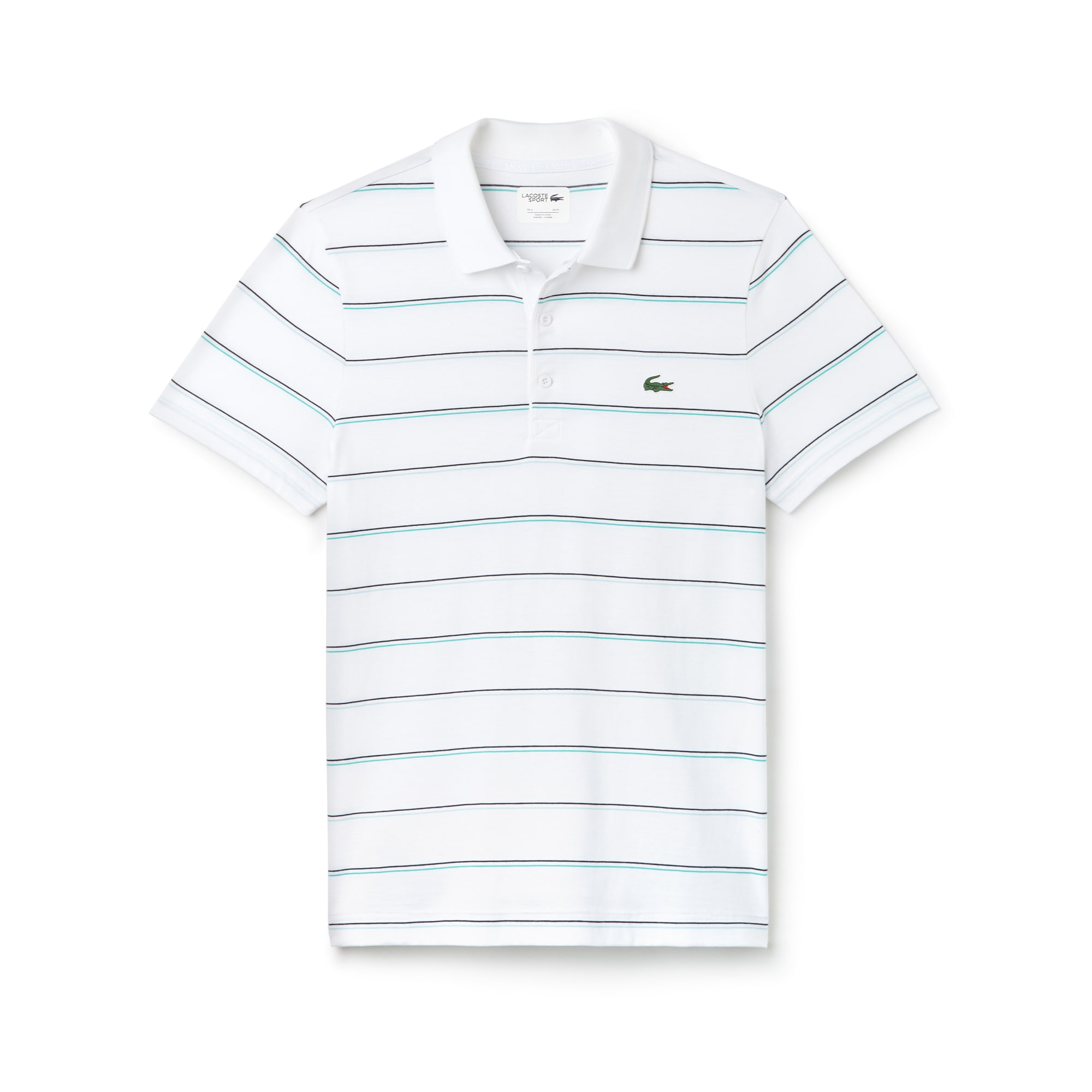 Men's Lacoste SPORT Striped Cotton Jersey Tennis Polo