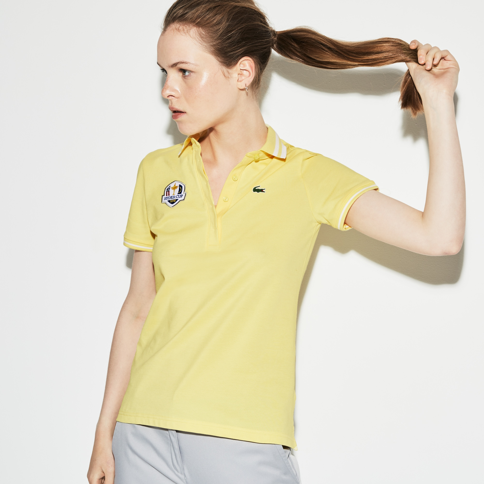 Women's Lacoste SPORT Ryder Cup Edition Tech Petit Piqué Golf Polo Shirt