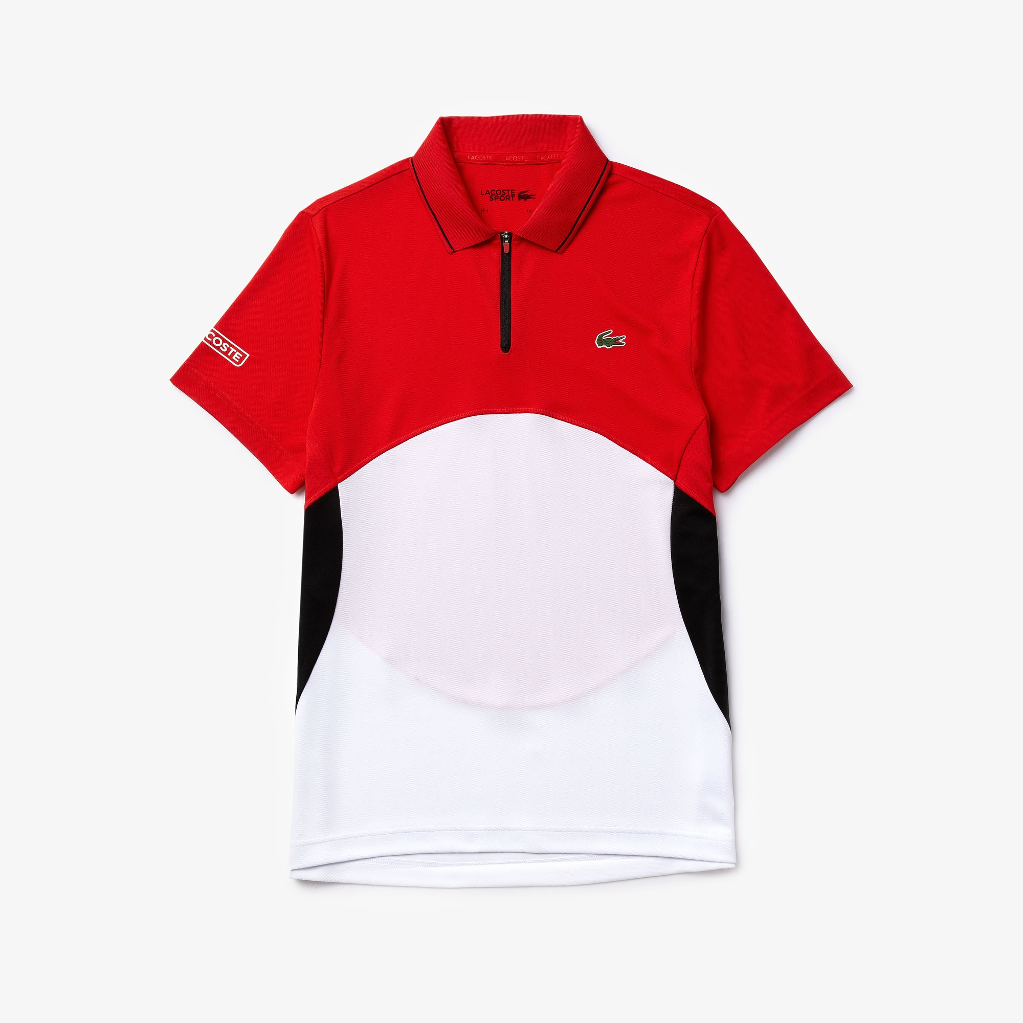 Men's Lacoste SPORT Ultra-Dry Piqué Zip Tennis Polo Shirt