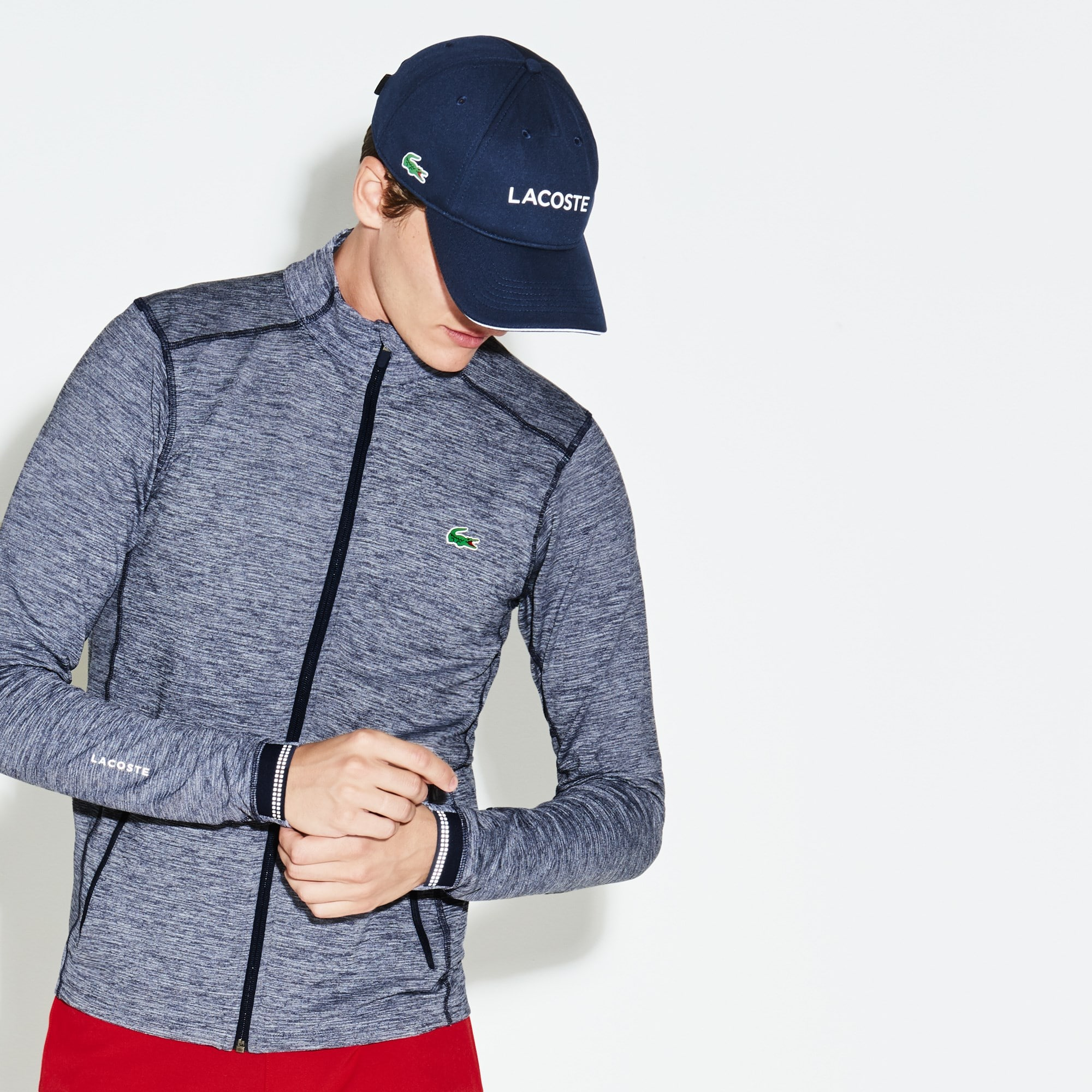 Men's Lacoste SPORT Tech Flamme Midlayer Zip Golf Sweatshirt