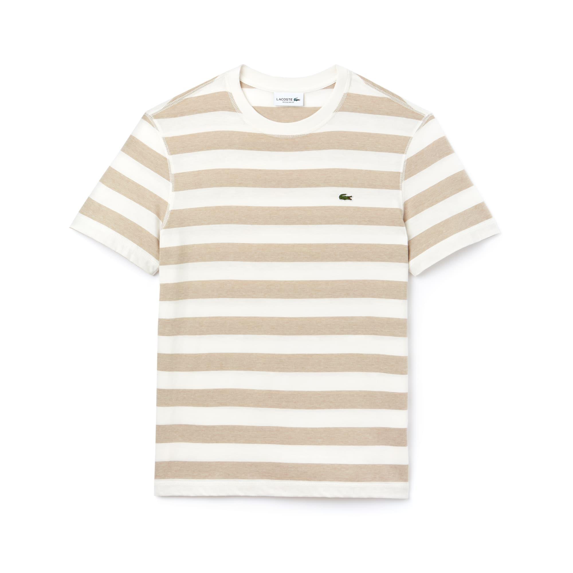 Men's Crew Neck Striped Cotton Jersey T-shirt