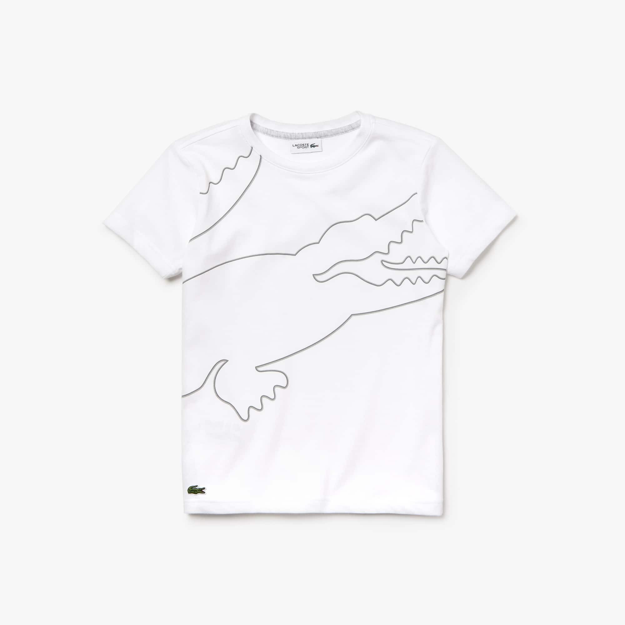 910176a6 Boys' Lacoste SPORT Crew Neck Oversized Croc Print Jersey T-shirt | LACOSTE