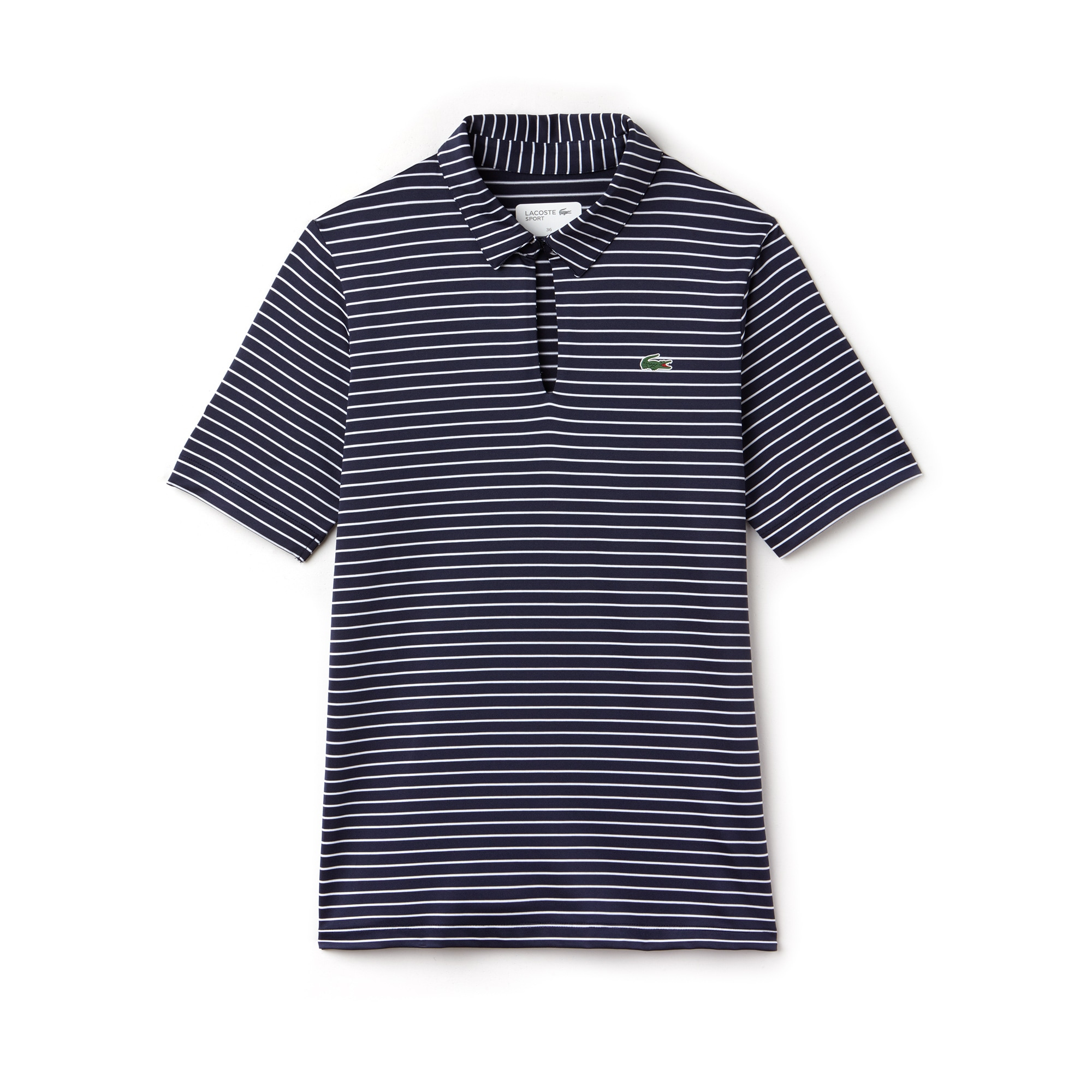 Women's Lacoste SPORT Ryder Cup Edition Striped Stretch Jersey Golf Polo Shirt