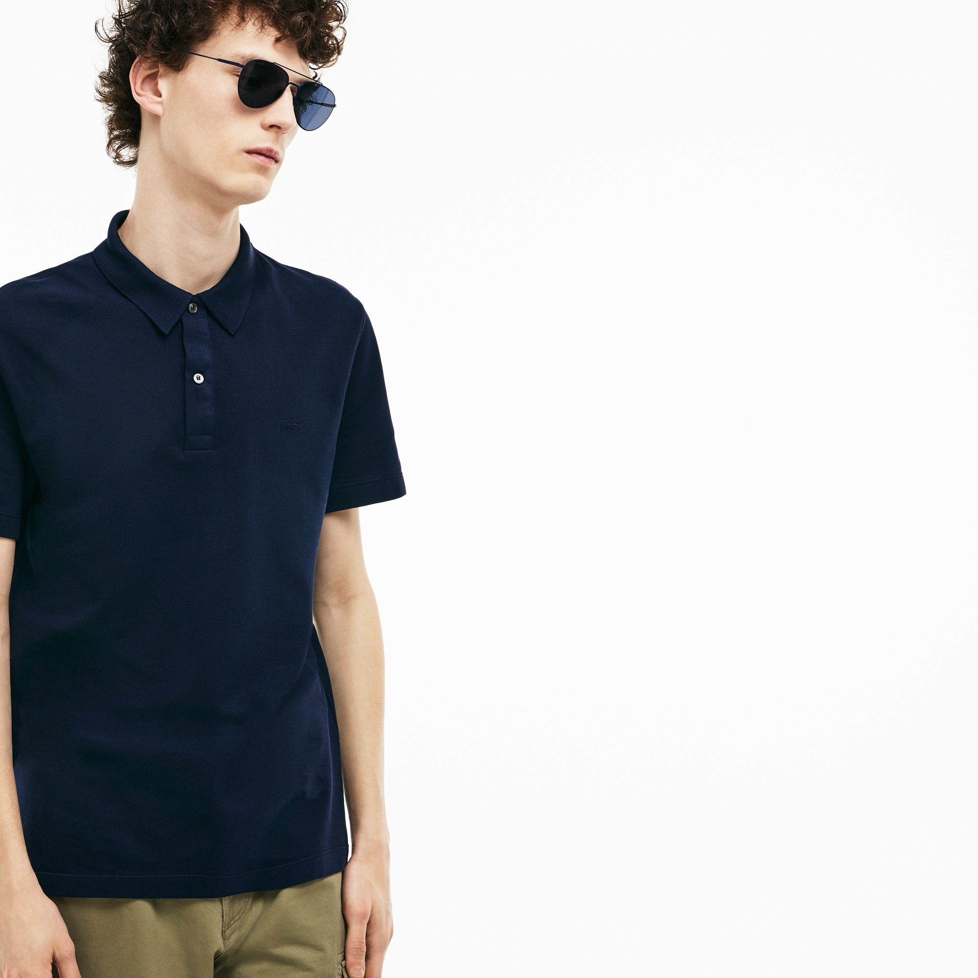 Men's Lacoste Slim Fit Unicolour Cotton Piqué Polo Shirt