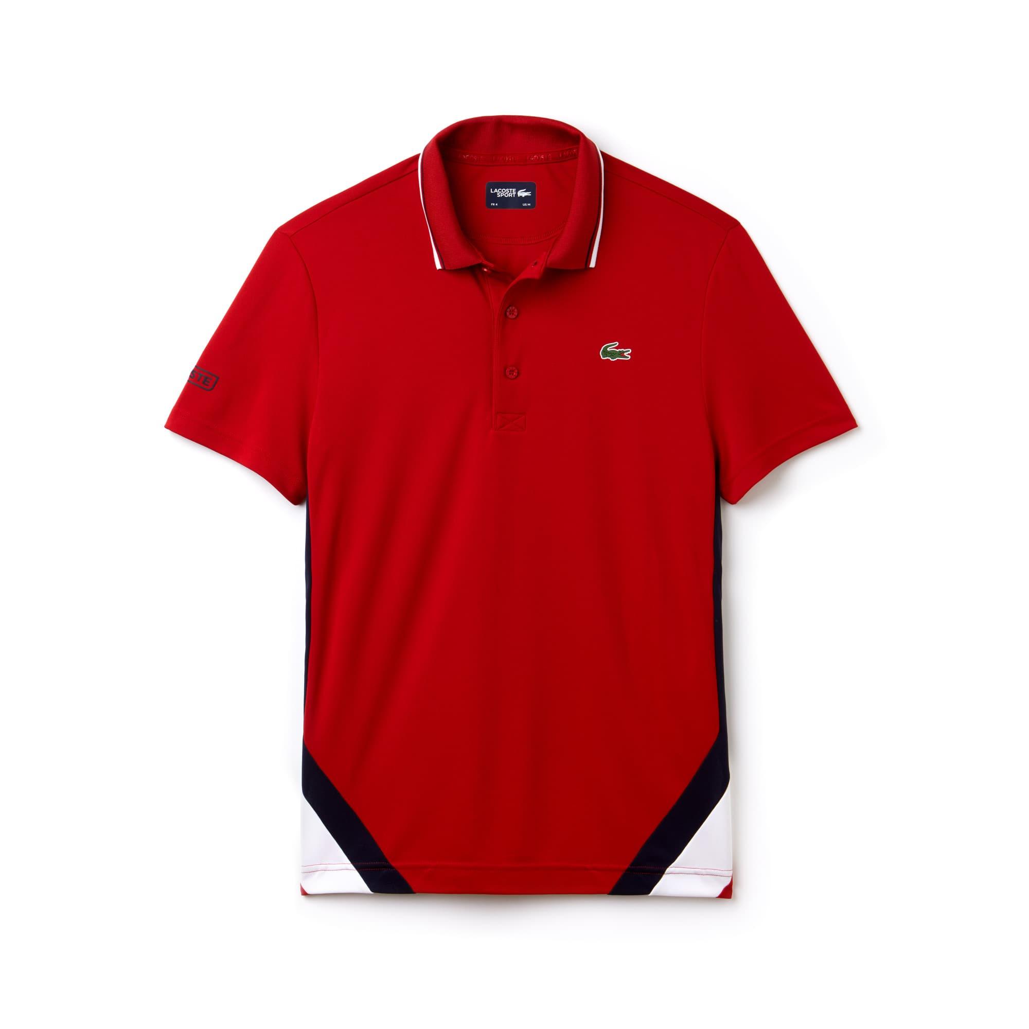Lacoste - Men's Lacoste SPORT Colorblock Bands Technical Piqué Tennis Polo - 3