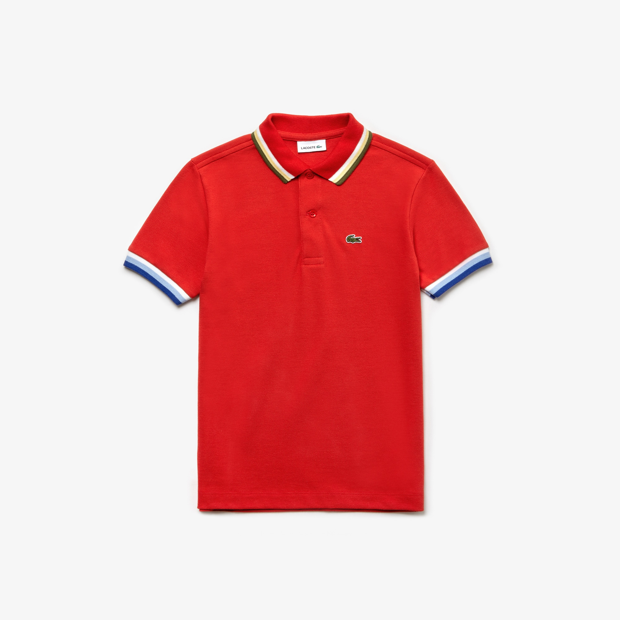 7650e184b Striped Cotton Polo Shirt Source · Boys poloshirts LACOSTE
