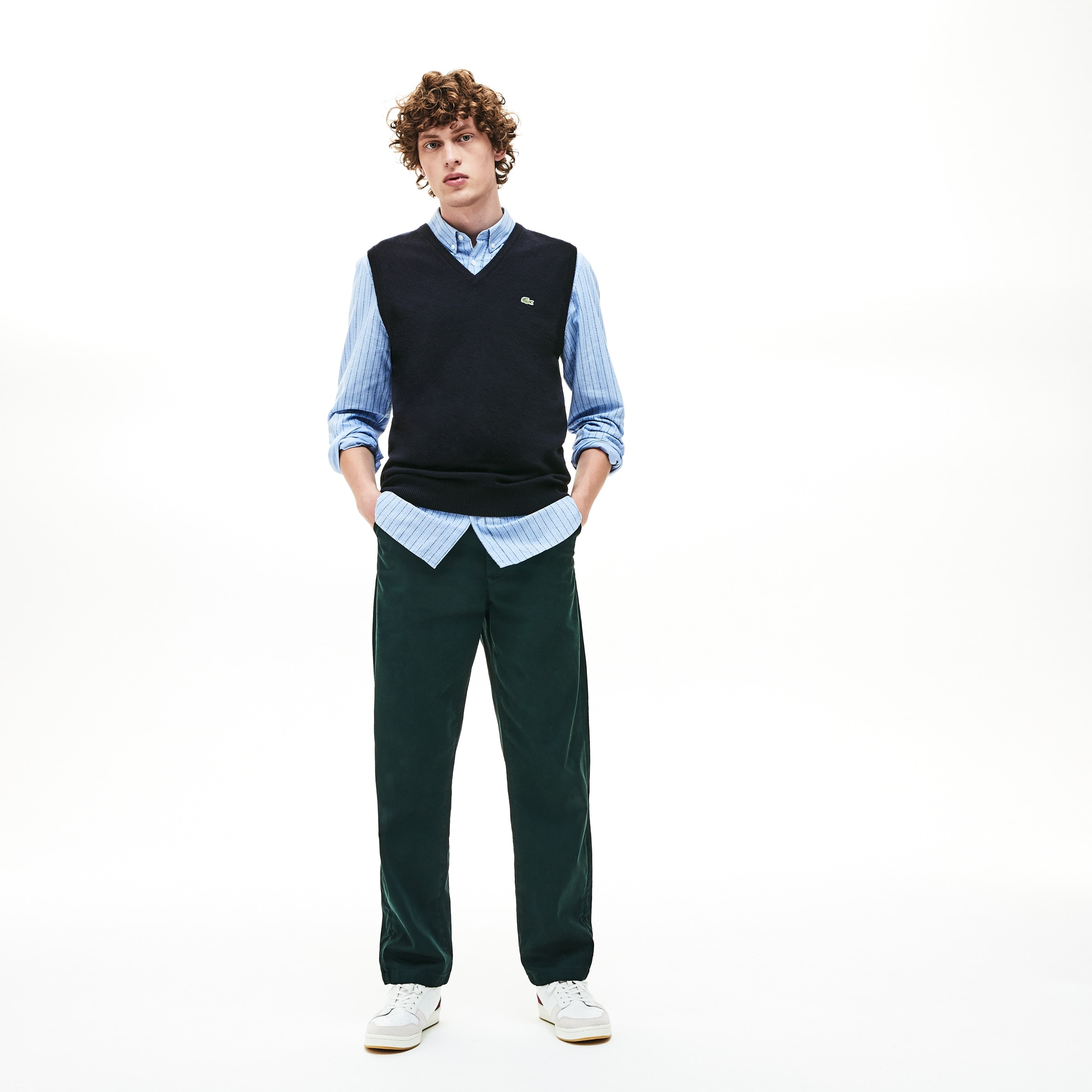 d297ac0e Men's V-neck Wool Jersey Vest