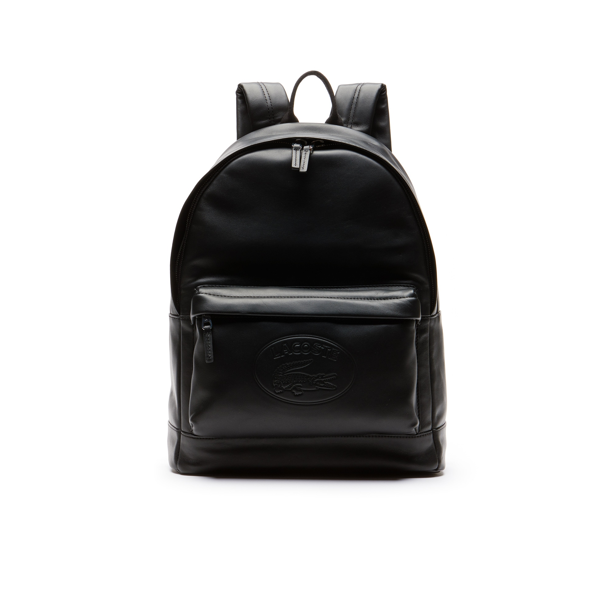 Men's L.12.12 Casual Embossed Lettering Leather Backpack