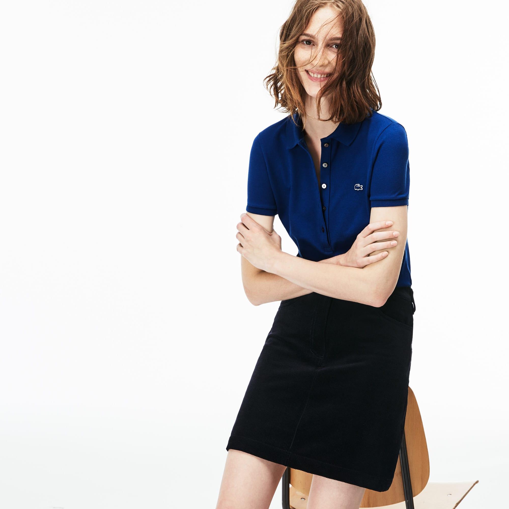 Women's Lacoste Slim Fit Stretch Mini Cotton Piqué Polo Shirt