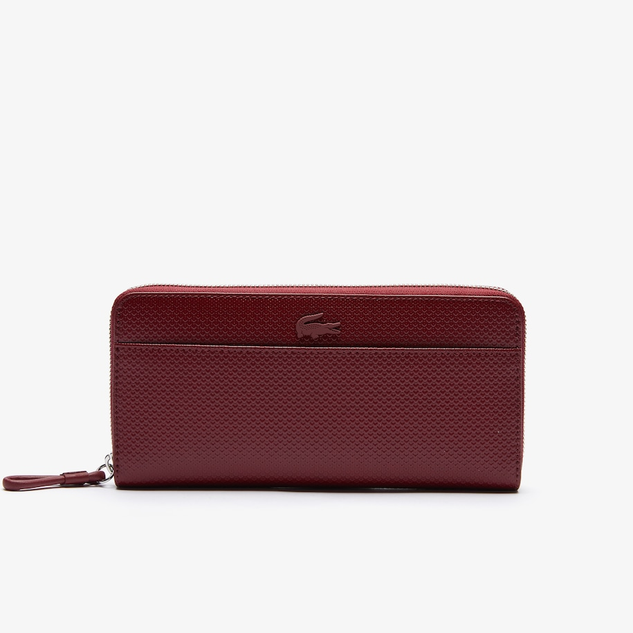 Women's Chantaco Matte Piqué Leather Zip Wallet