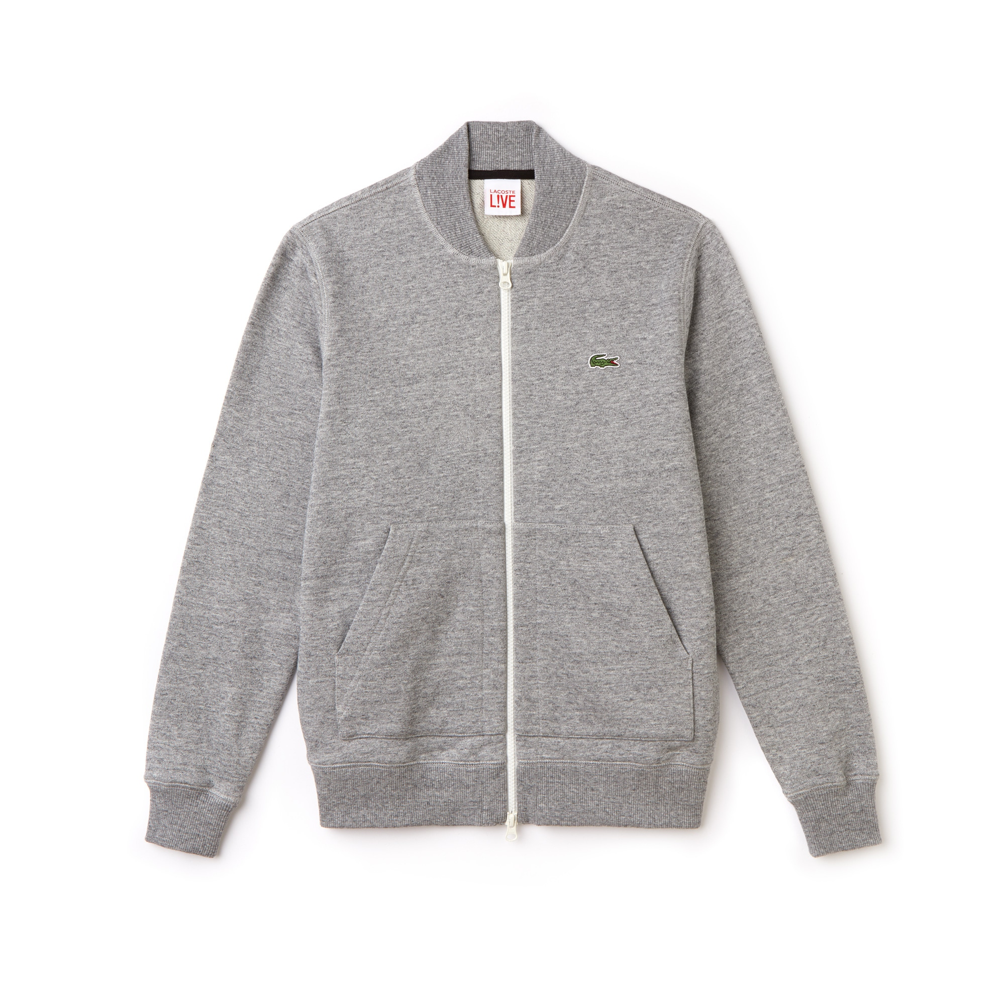 Lacoste - Unisex Lacoste LIVE Teddy Neck Zip Fleece Sweatshirt - 1