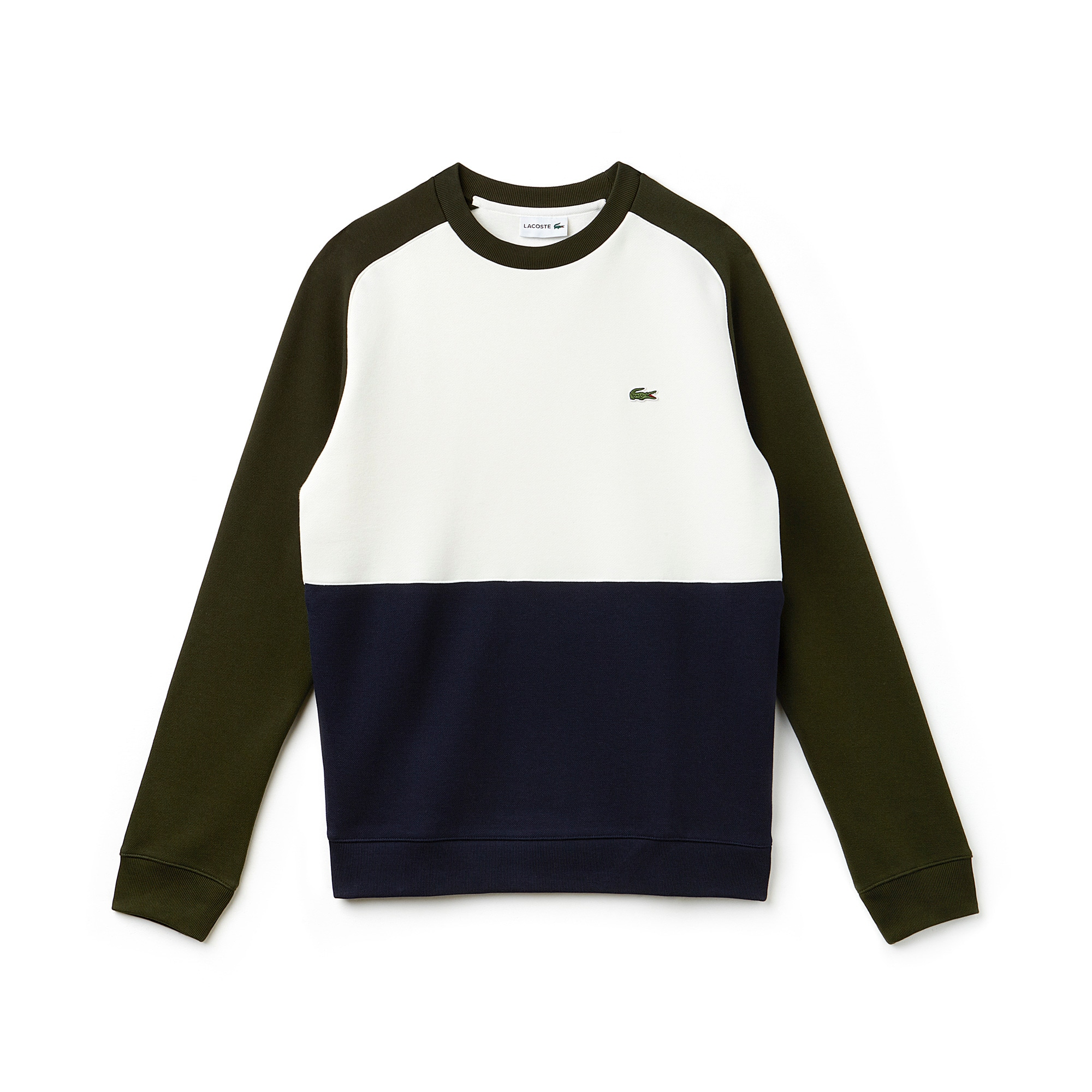 Men's Colorblock Cotton Piqué Fleece Sweatshirt
