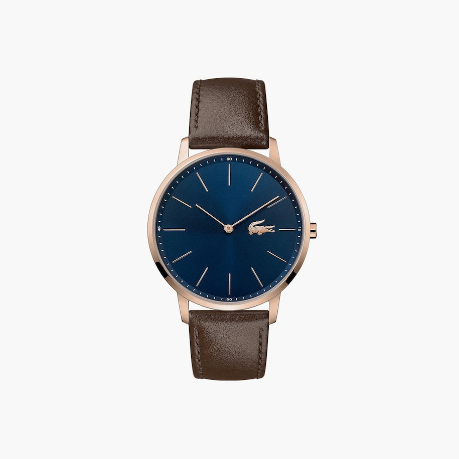 Gents Moon Watch With Brown Leather Strap