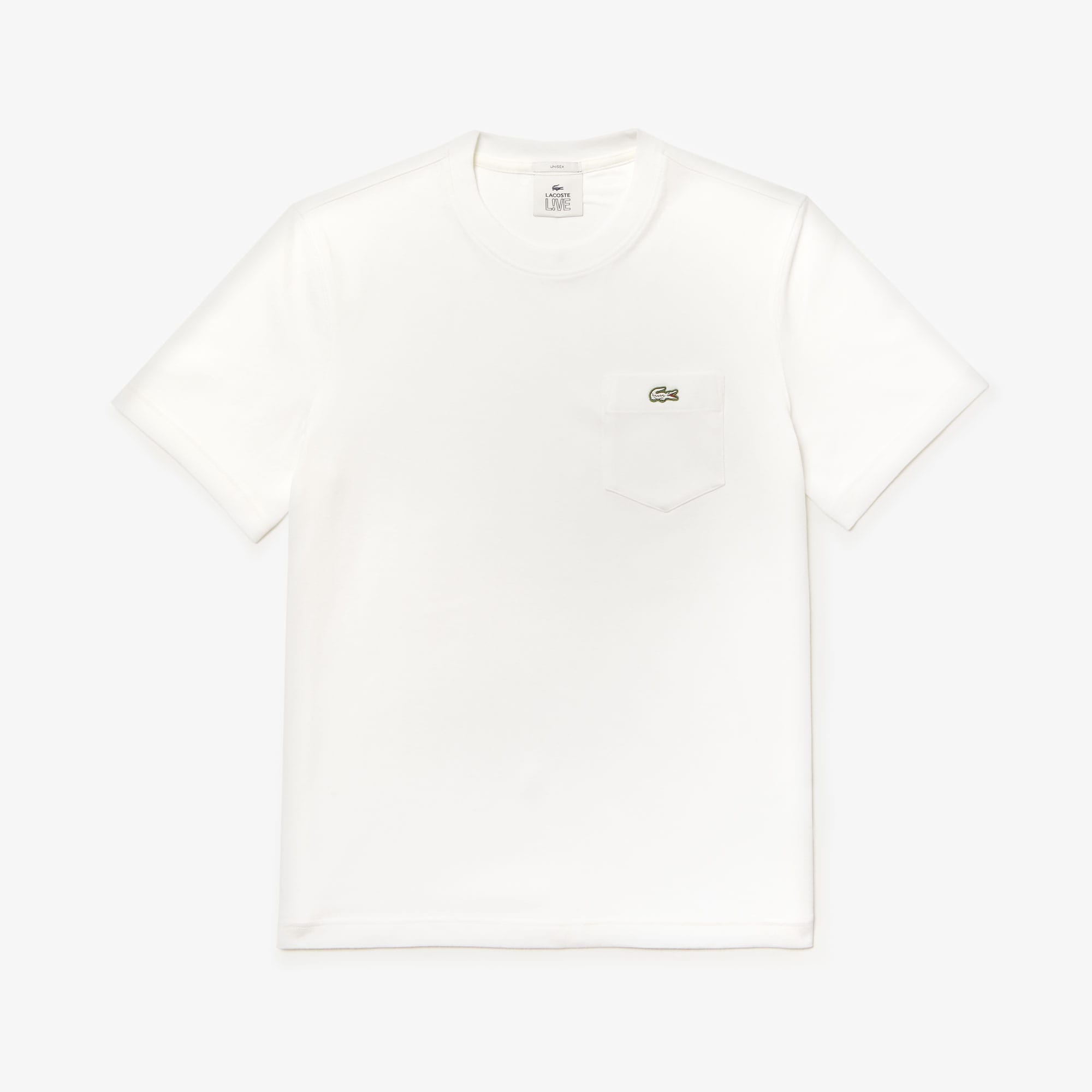 Unisex Lacoste LIVE Pocket Heathered Cotton T-shirt