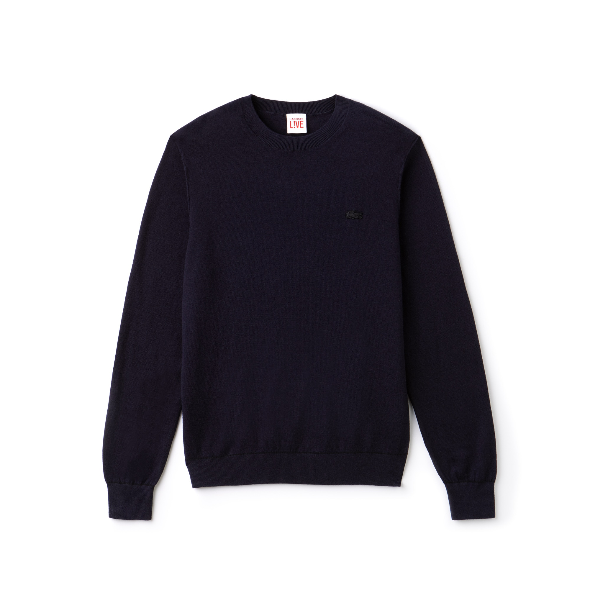 Men's Lacoste LIVE Crew Neck Cotton And Cashmere Jersey Sweater