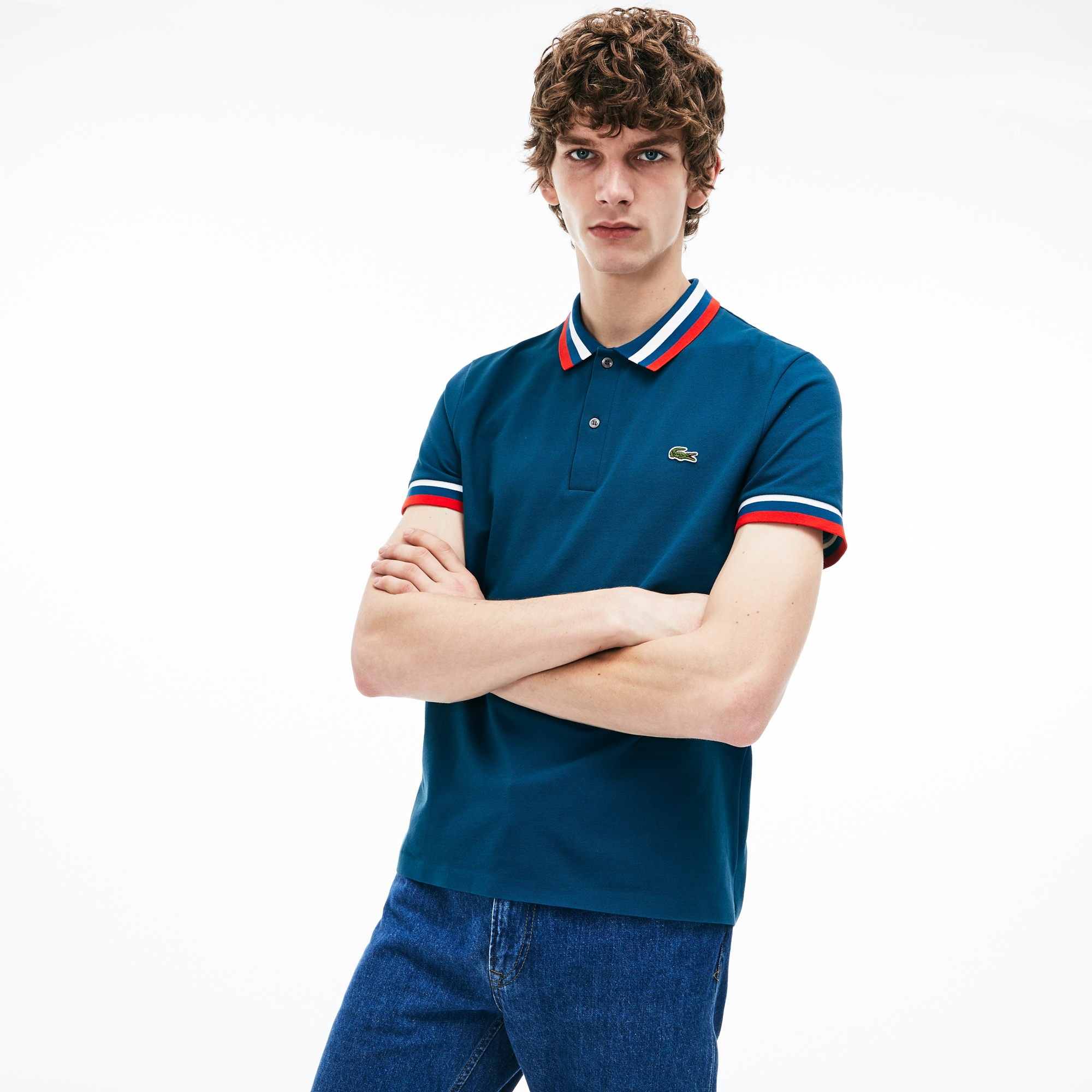 11767a09 Men's Lacoste MADE IN FRANCE Regular Fit Technical Piqué Polo Shirt ...