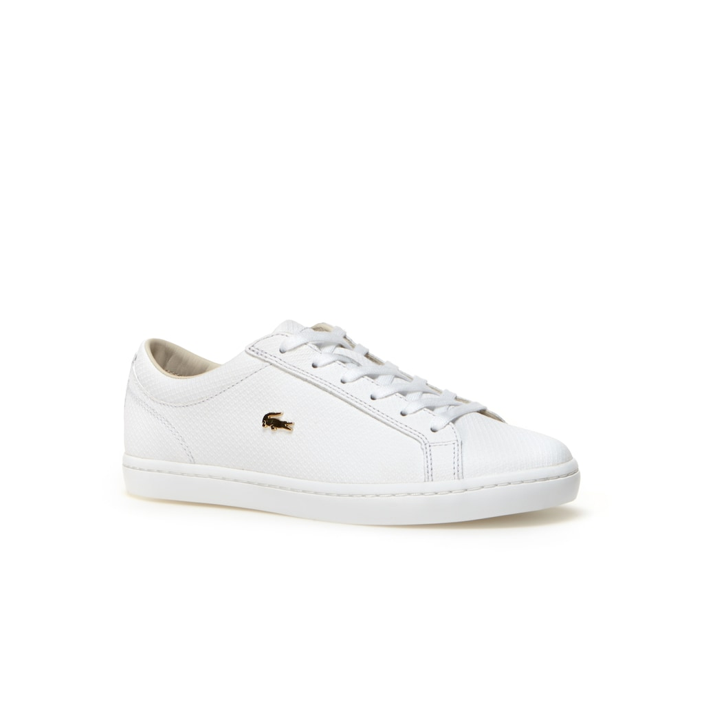 6c0effd20db2ee Women s Straightset Leather trainers With Golden Croc