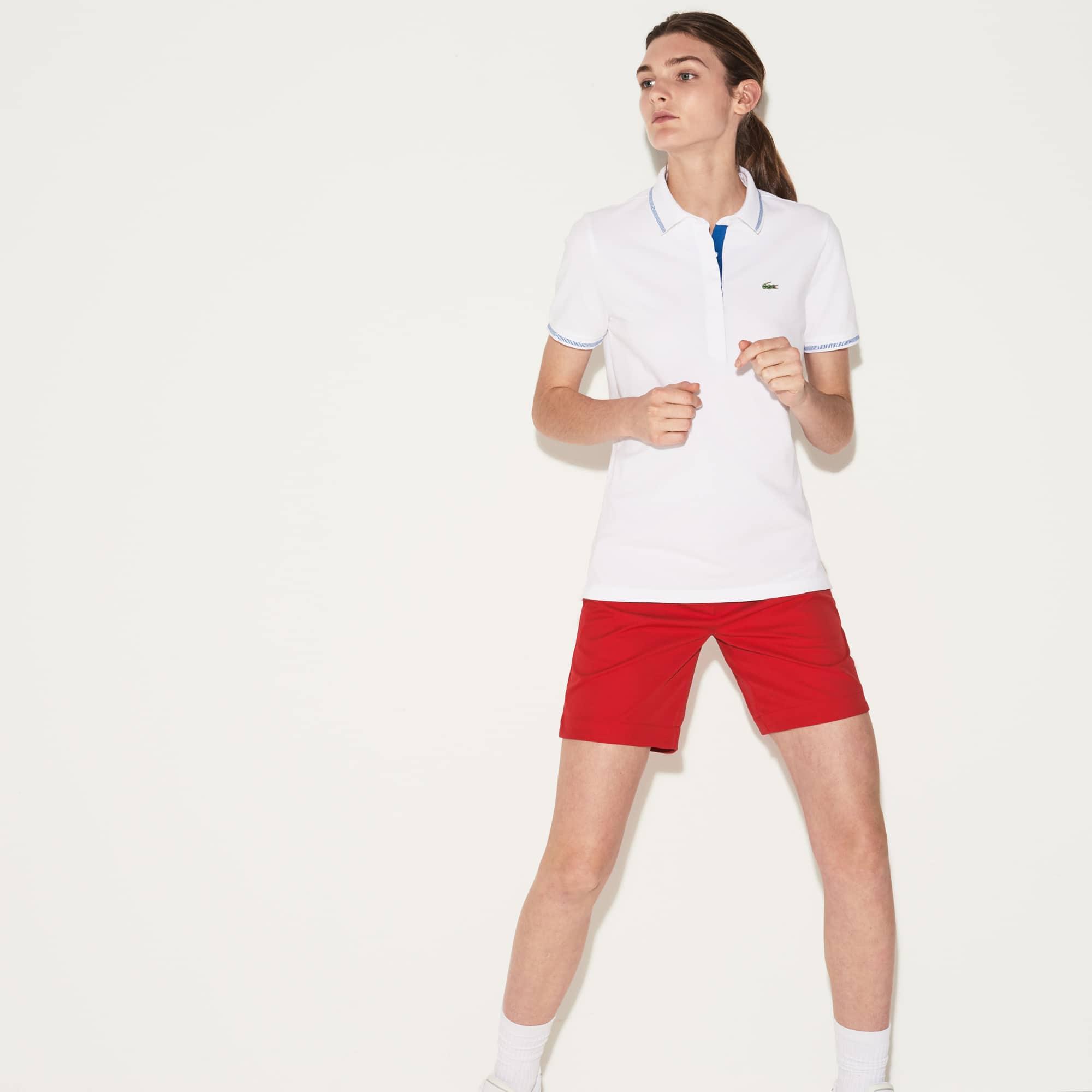 Women's Lacoste SPORT Light Stretch Technical Cotton Golf Polo Shirt