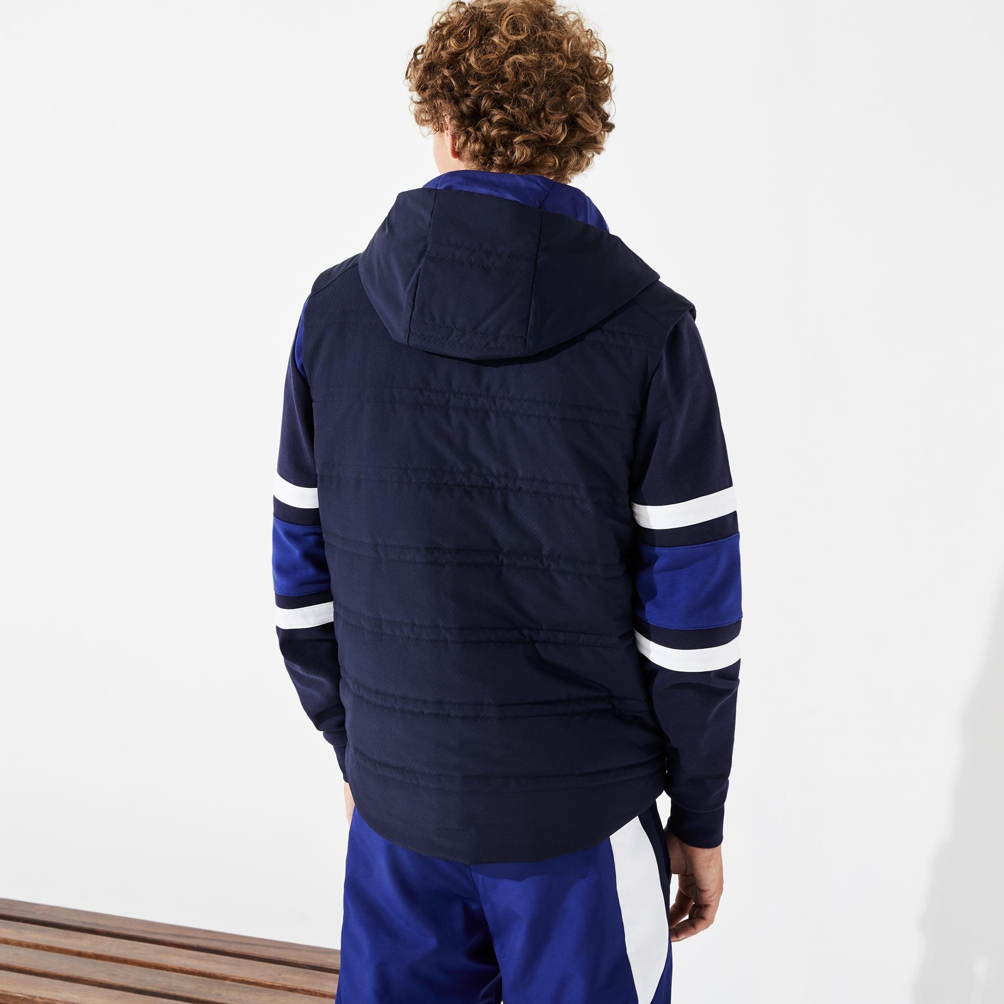 design de qualité 57497 8afda Men's Lacoste SPORT Hooded Quilted Rain Vest