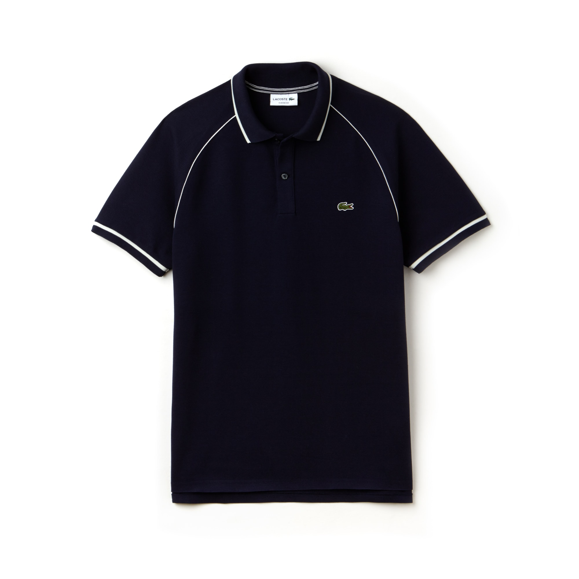Men's Lacoste Classic Fit Piped Square Knit Polo Shirt