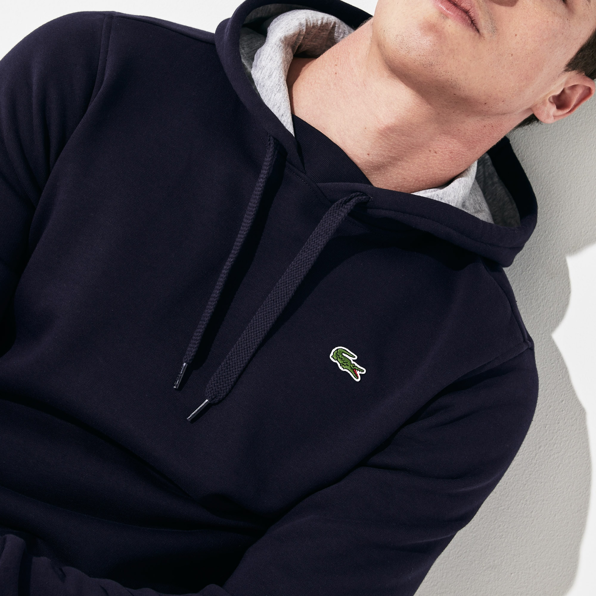Tennis Hooded Lacoste Men's Sweatshirt Fleece Sport 8k0ZnOXNwP