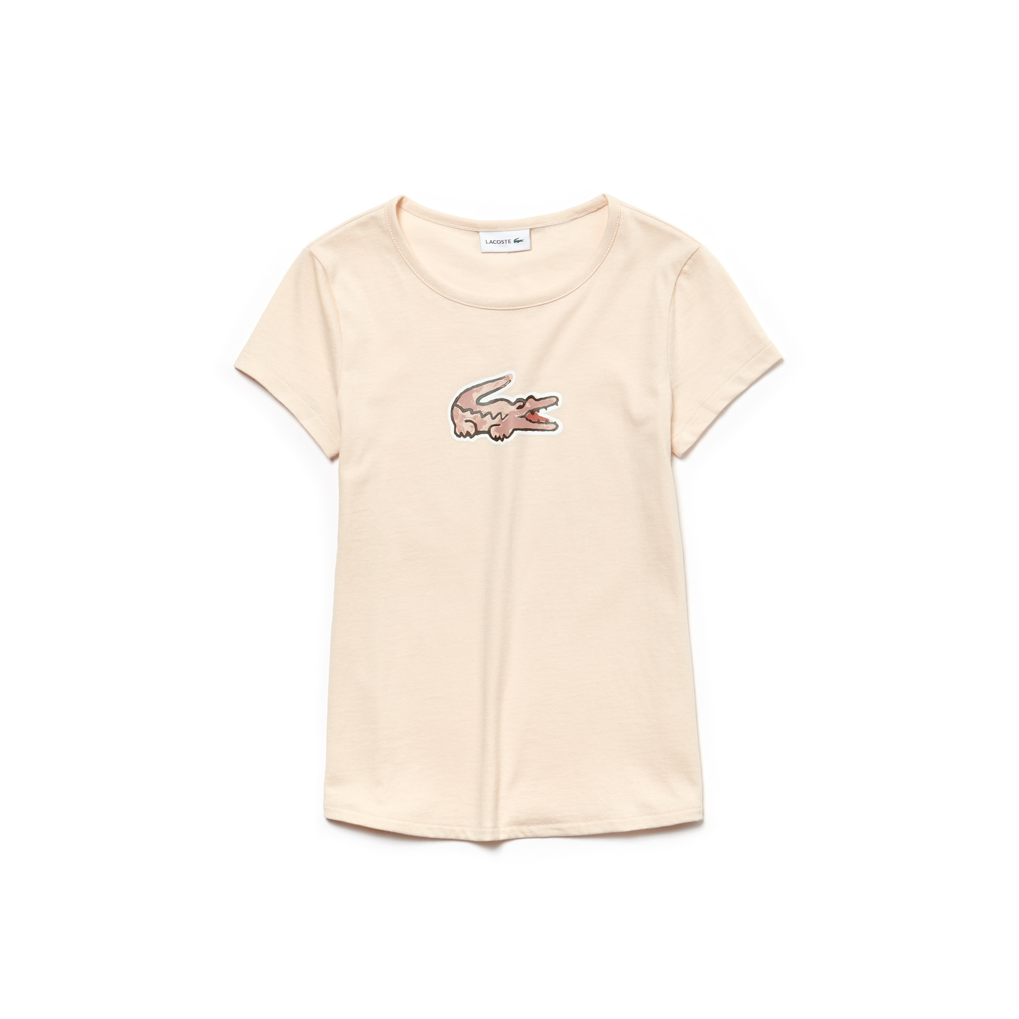 Girls' Crew Neck Crocodile Print Jersey T-shirt
