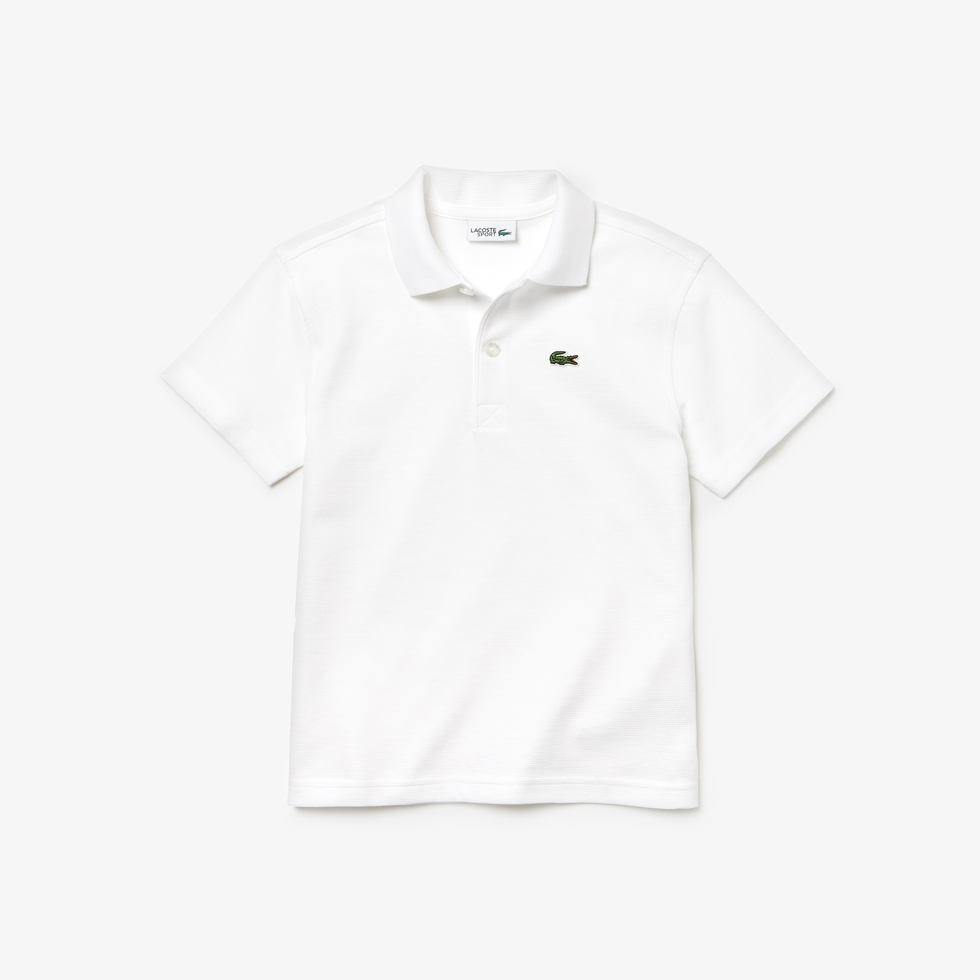 boys lacoste white shirt