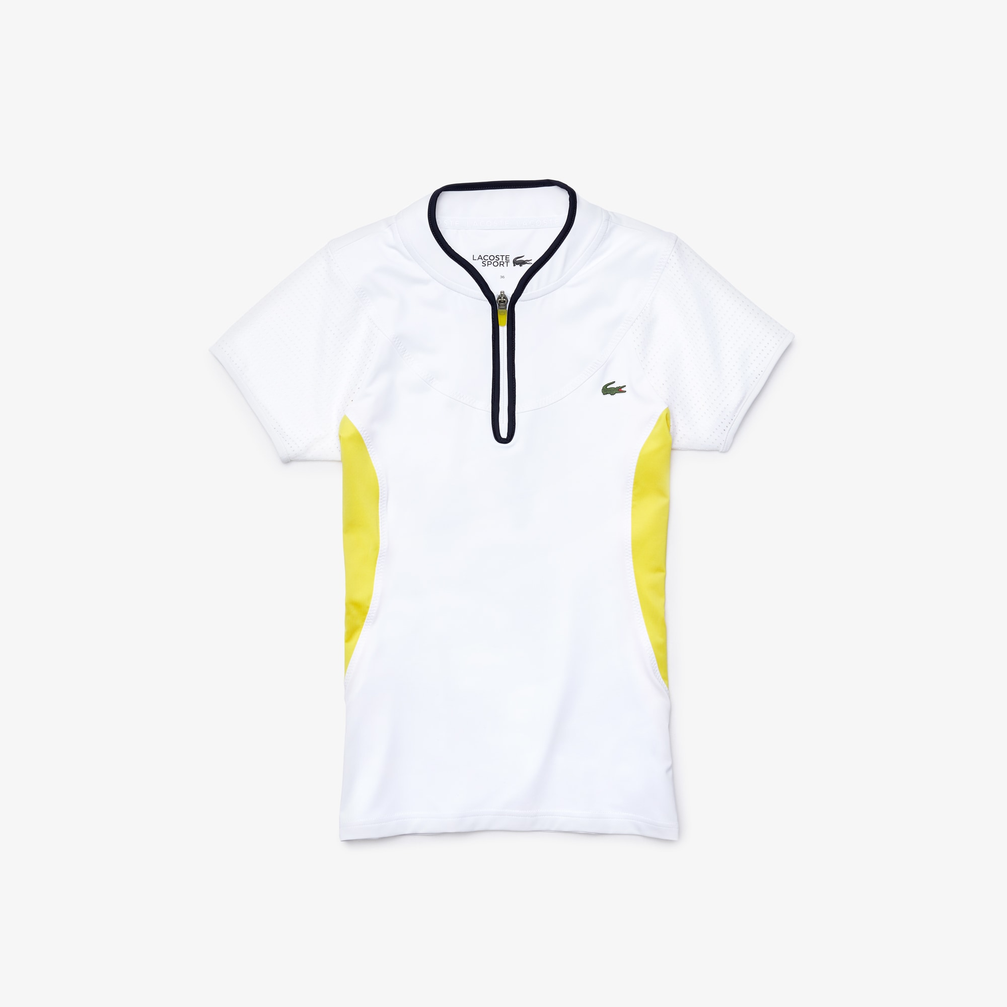 Women's Lacoste SPORT Breathable Bi-Material Stretch Tennis Polo Shirt