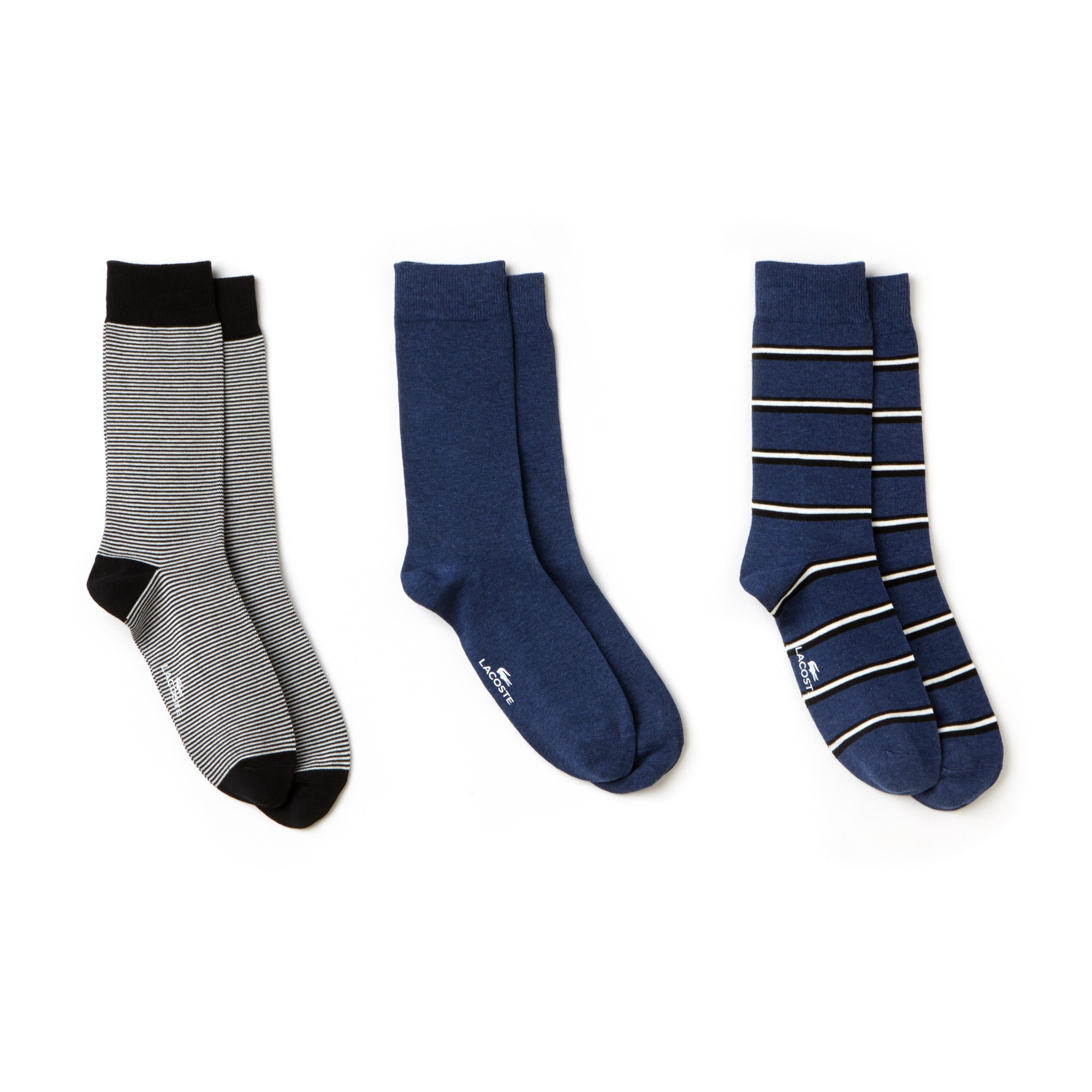 Men's Striped Jersey Sock Three-Pack