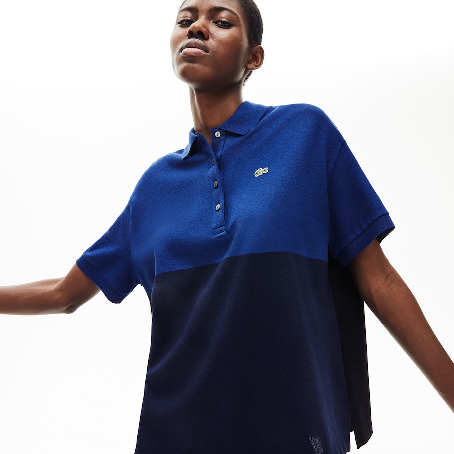 Women's Lacoste Relax Fit Colourblock Light Piqué Polo Shirt