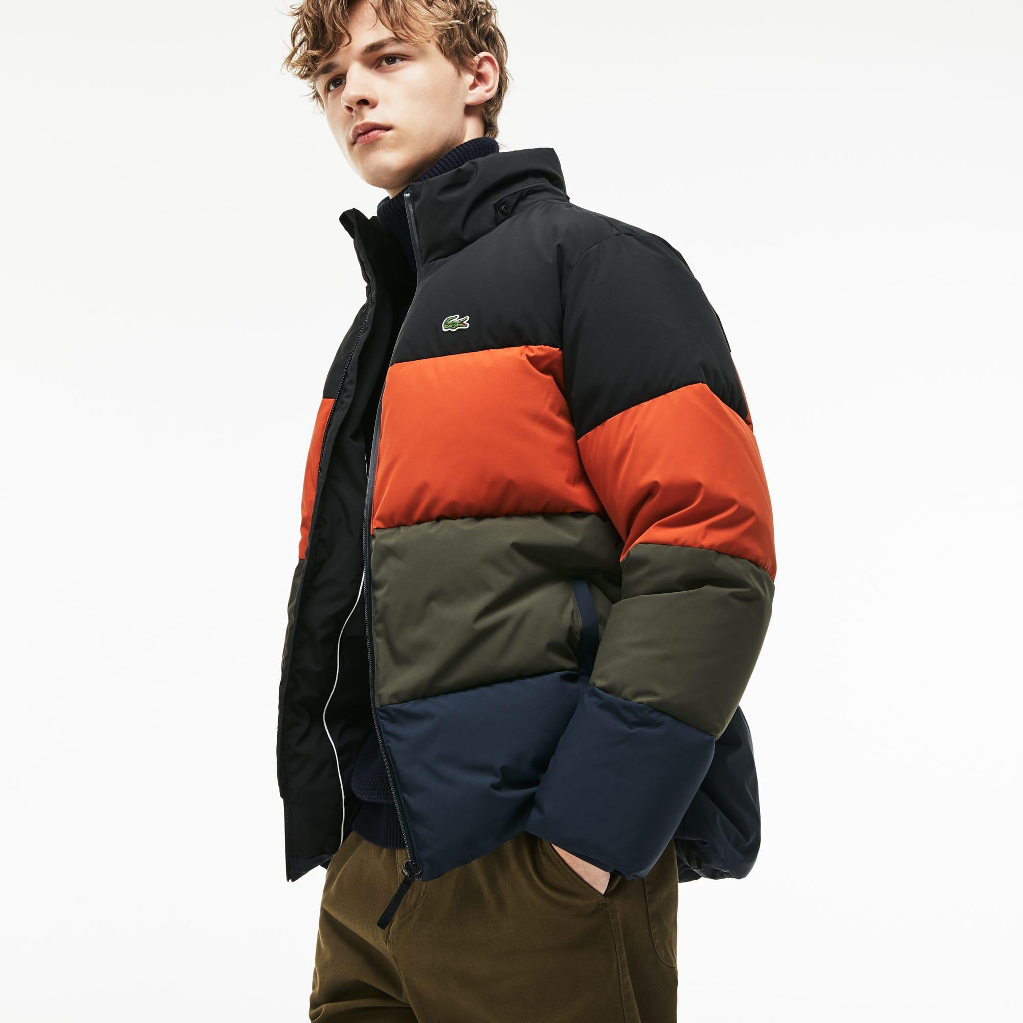 bd262c721865 Men s Detachable Hood Quilted Water-Resistant Taffeta Jacket ...