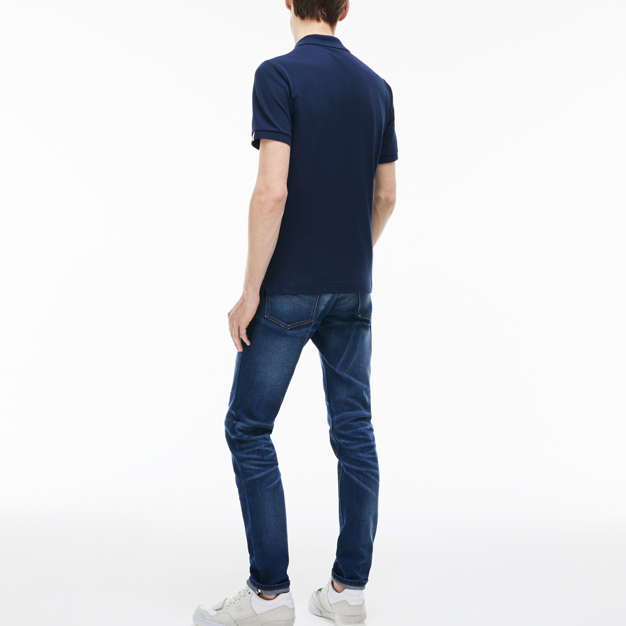 02b05d4b Men's Lacoste LIVE 5-Pocket Turned Edge Stretch Denim Jeans