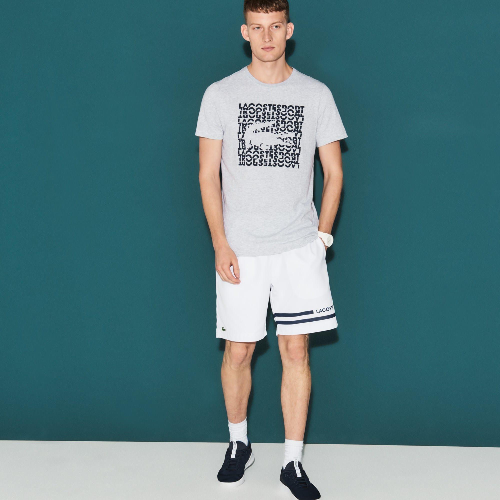 Men's Lacoste SPORT Contrast Bands Taffeta Tennis Shorts