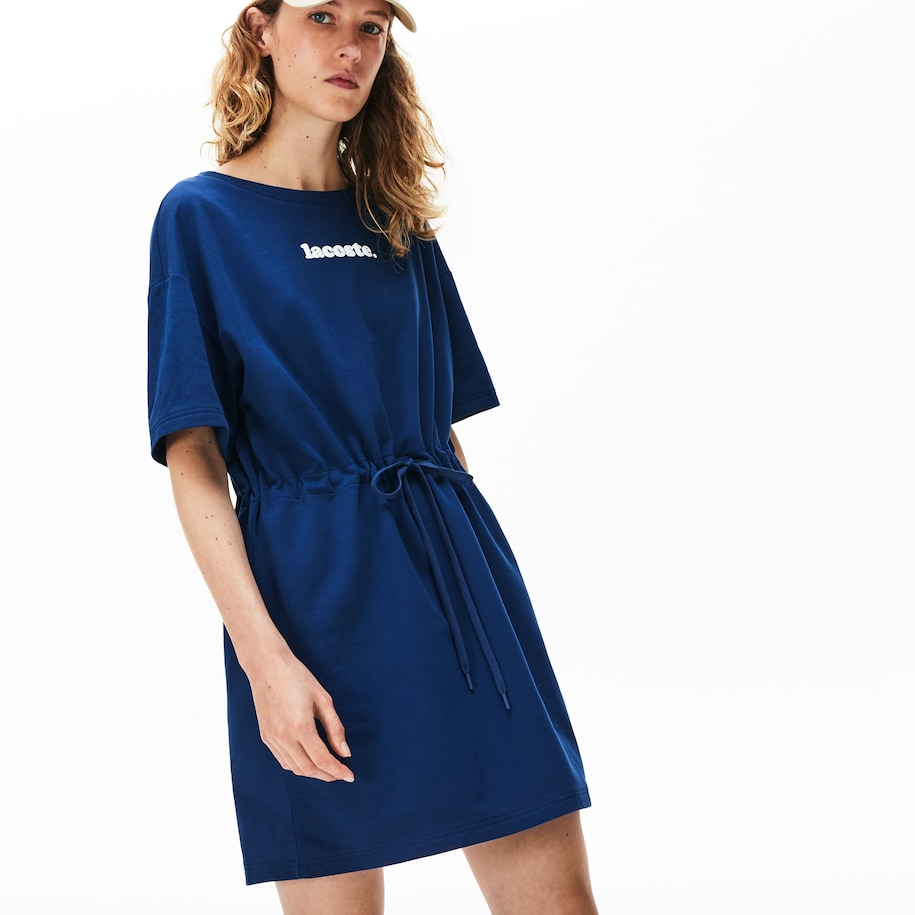 Women's Lacoste Signature Cotton Fleece T-shirt Dress