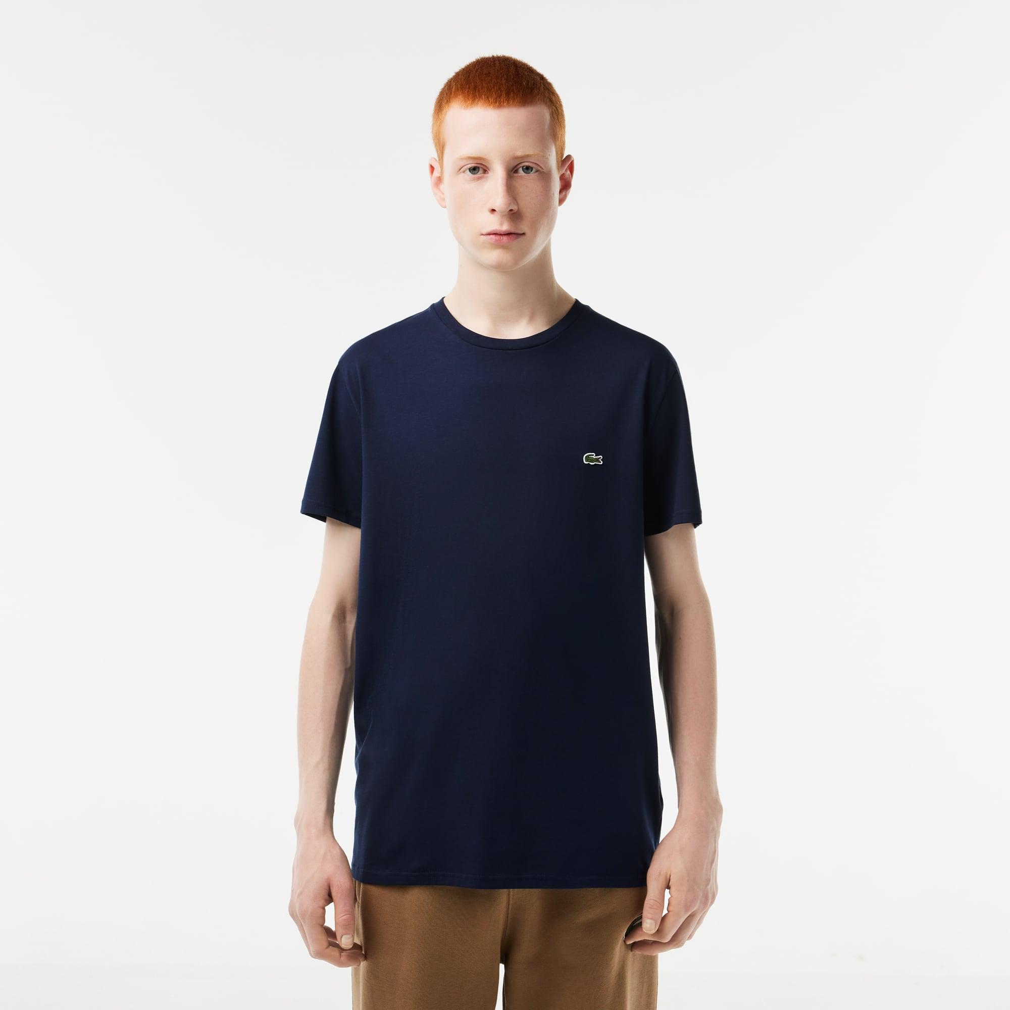b10bc85cd0c Men s Crew Neck Pima Cotton Jersey T-shirt. £50.00. + 18 colors