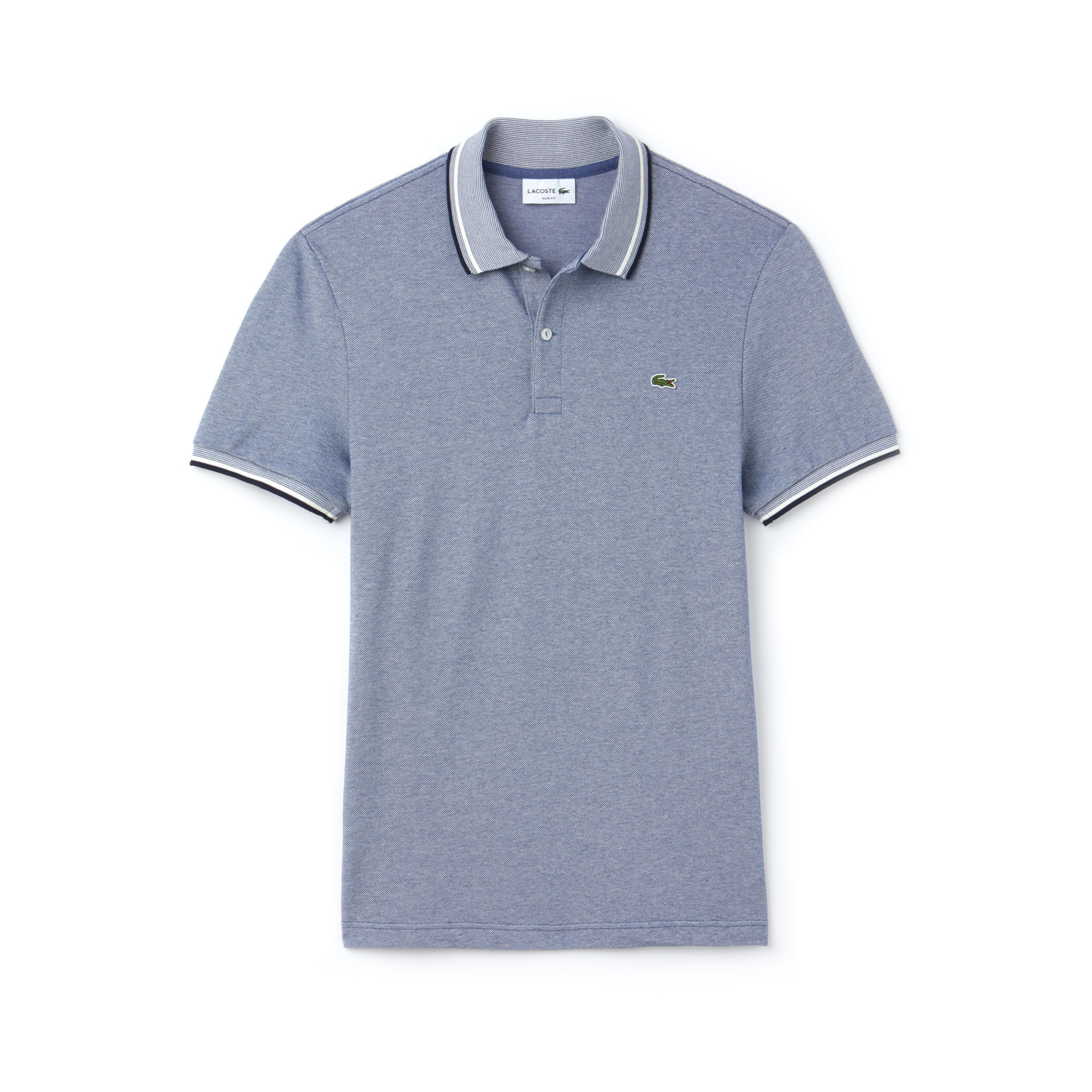 Men's Lacoste Slim Fit Contrast Accents Caviar Piqué Polo