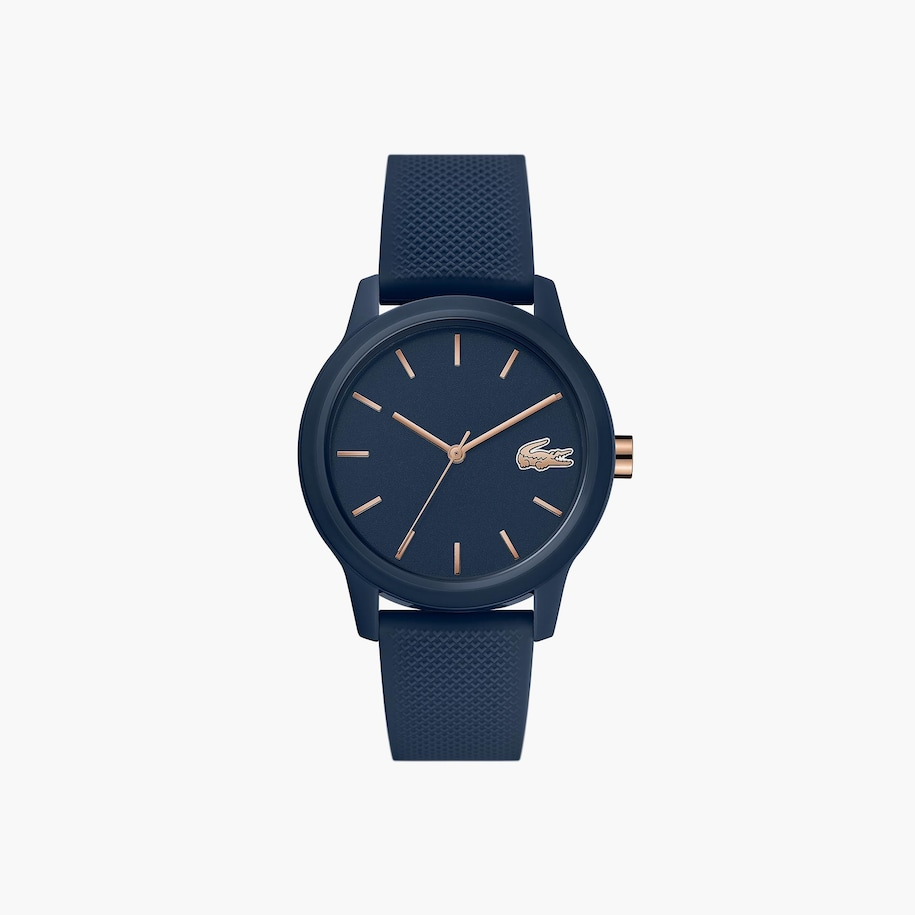 Ladies Lacoste.12.12 Watch With Navy Silicone Petit Piqué Strap