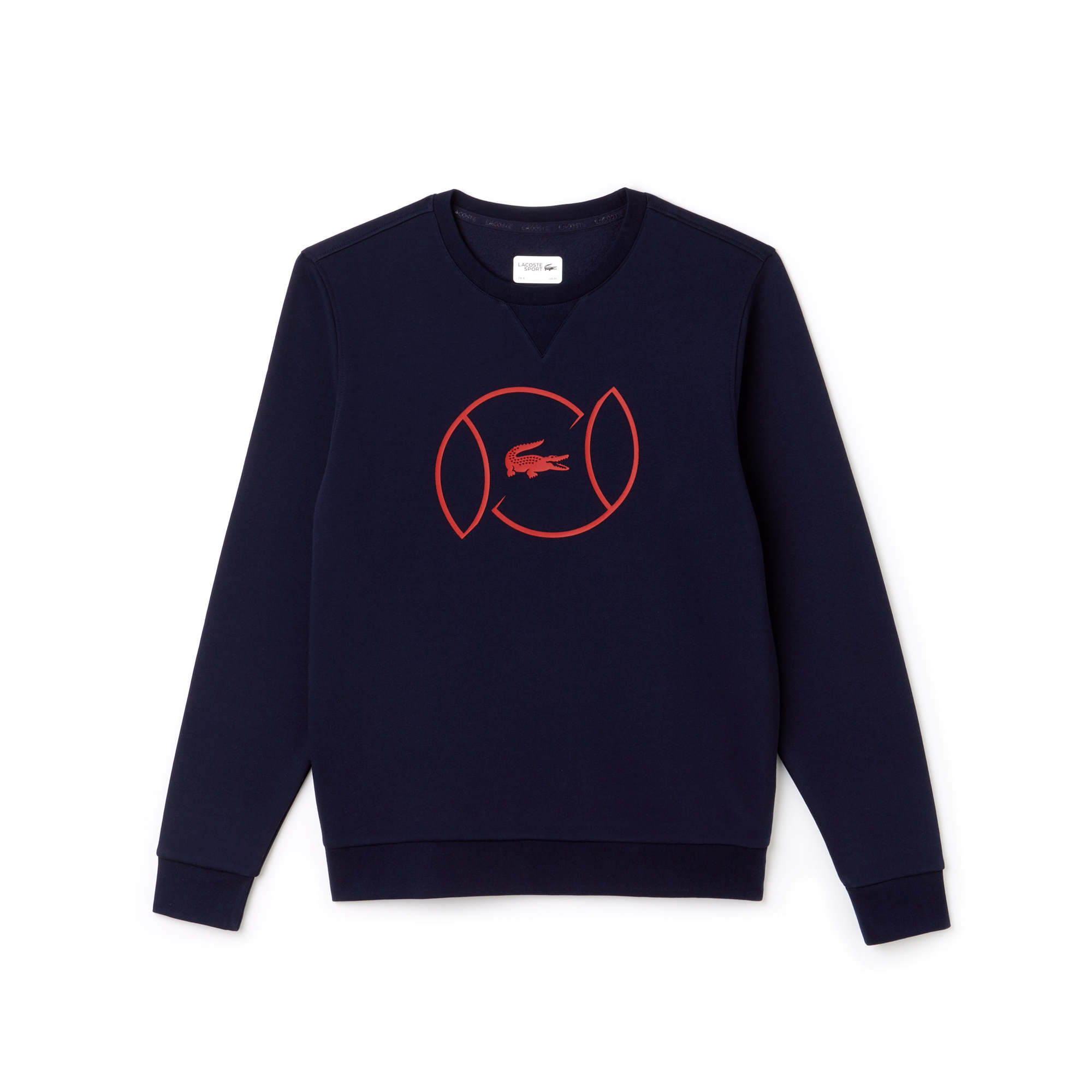 Men's Lacoste SPORT Fleece And Lettering Tennis Sweatshirt