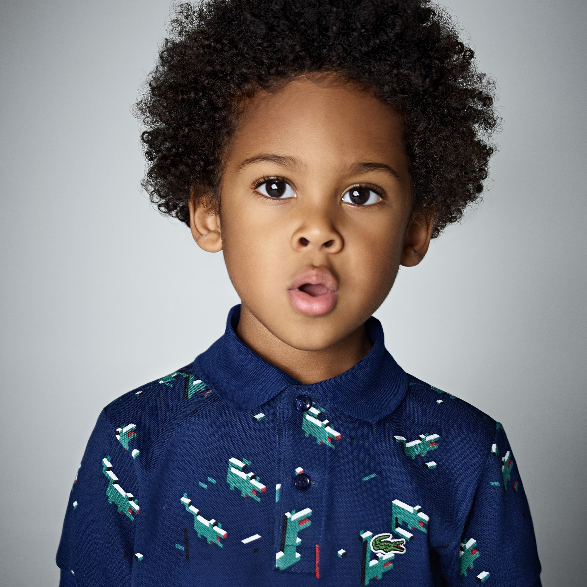 Boys' Lacoste Little Boy Edition Print Mini Piqué Polo